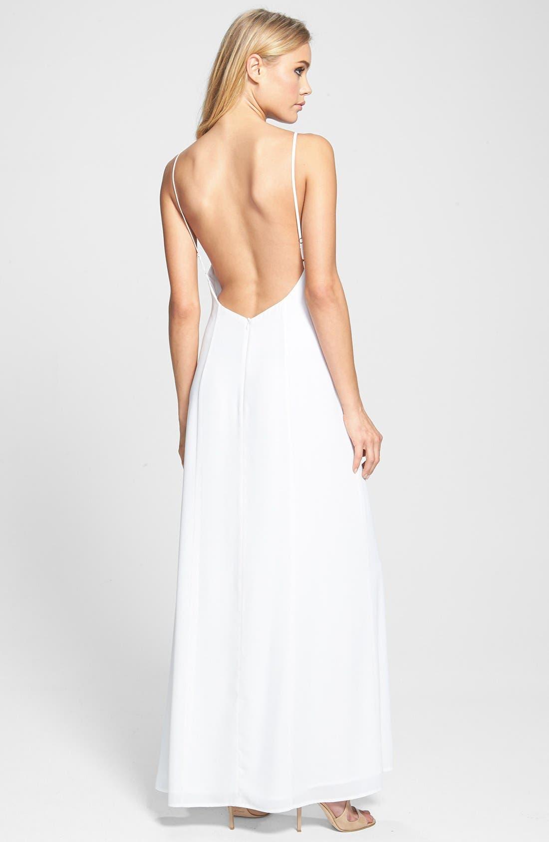Alternate Image 2  - June & Hudson Open Back Woven Maxi Dress