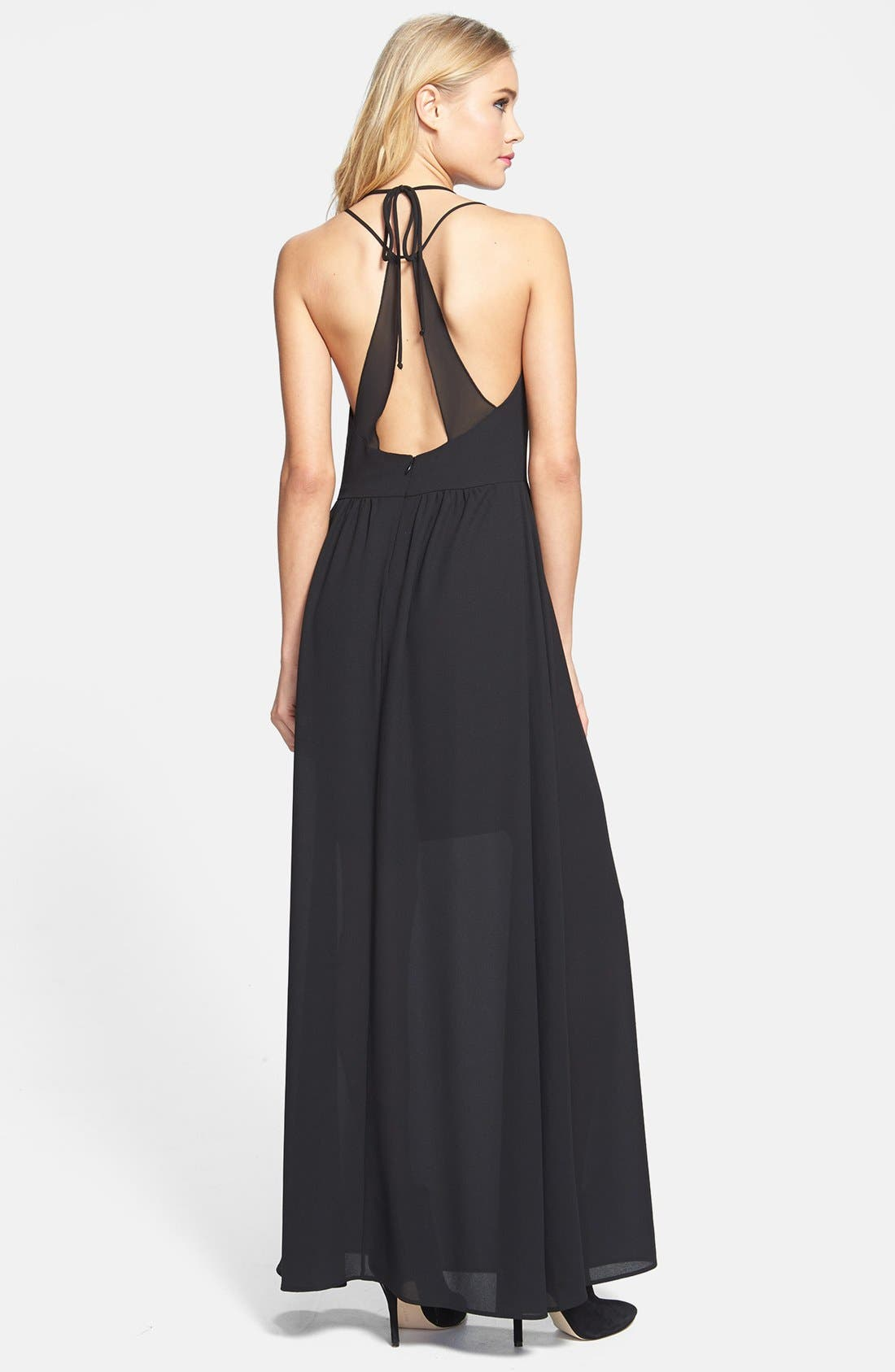 Alternate Image 2  - June & Hudson Strappy Woven Maxi Dress