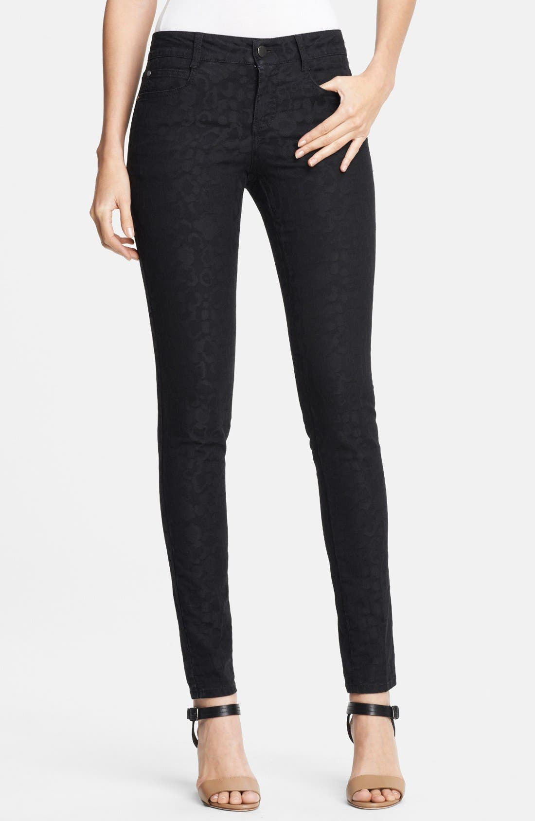 Alternate Image 1 Selected - Stella McCartney 'Lina' Leopard Jacquard Skinny Jeans