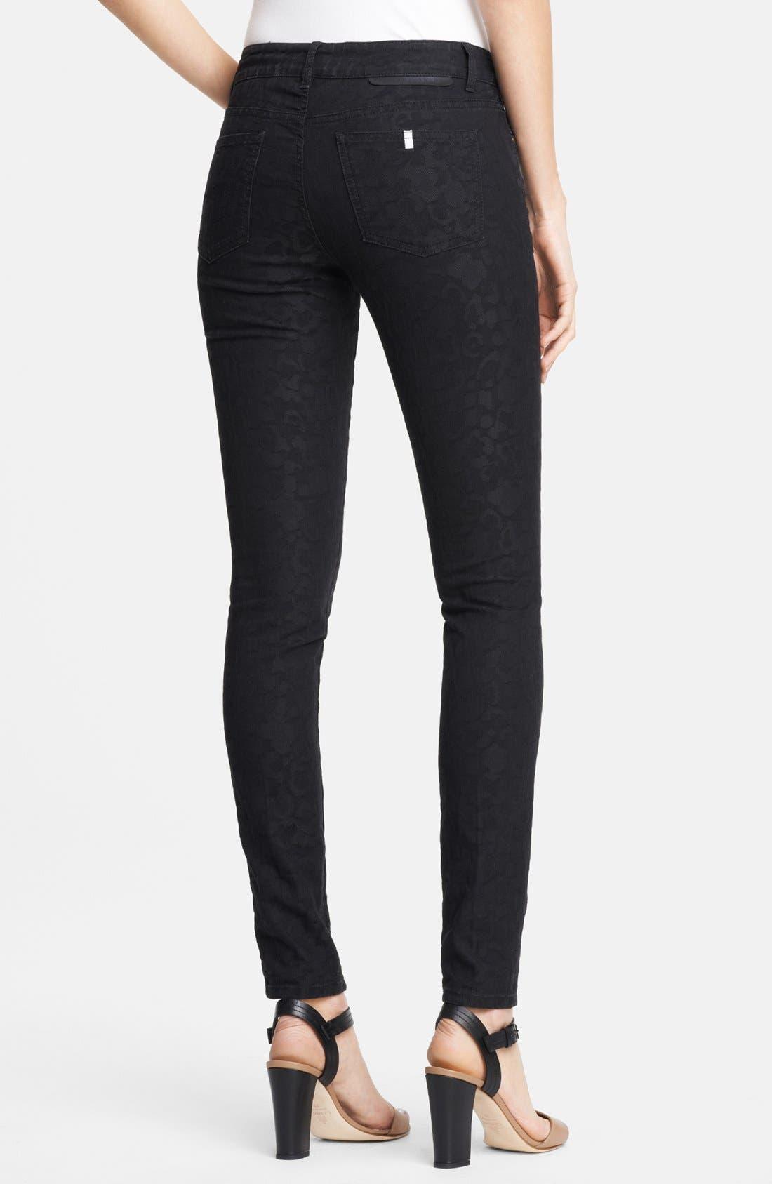 Alternate Image 2  - Stella McCartney 'Lina' Leopard Jacquard Skinny Jeans