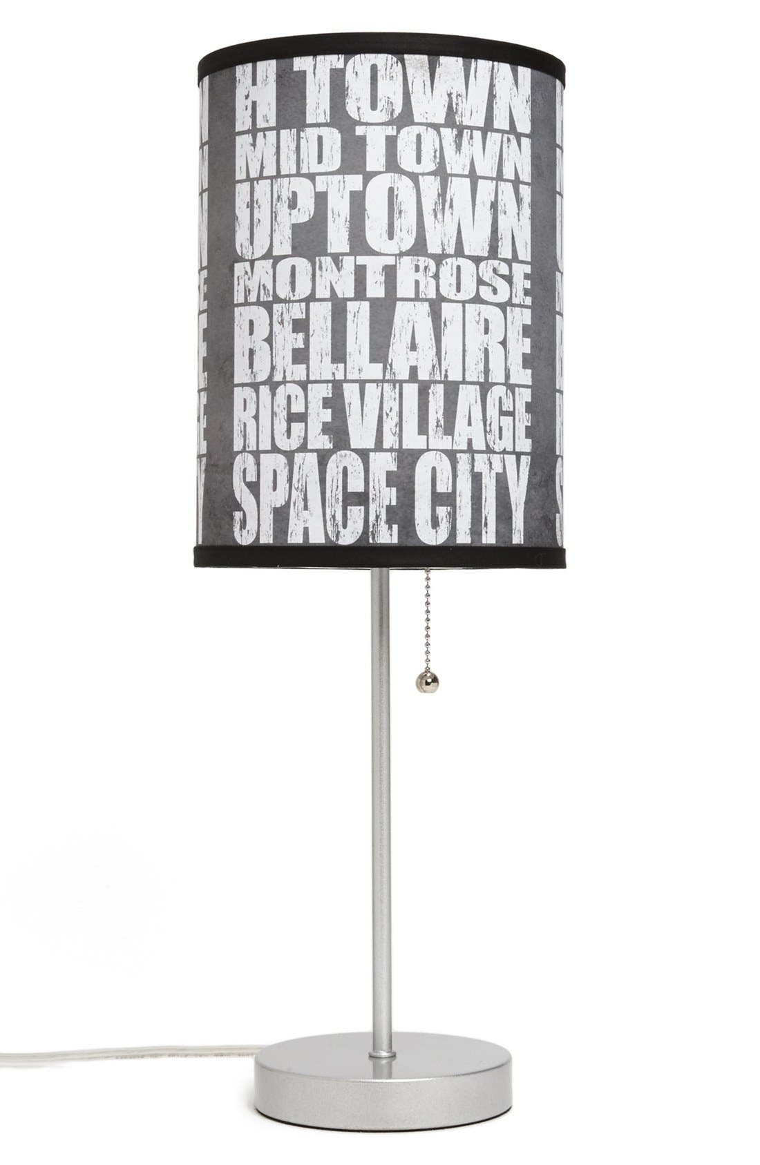 Alternate Image 1 Selected - LAMP-IN-A-BOX 'Local Words - Houston' Print Lamp
