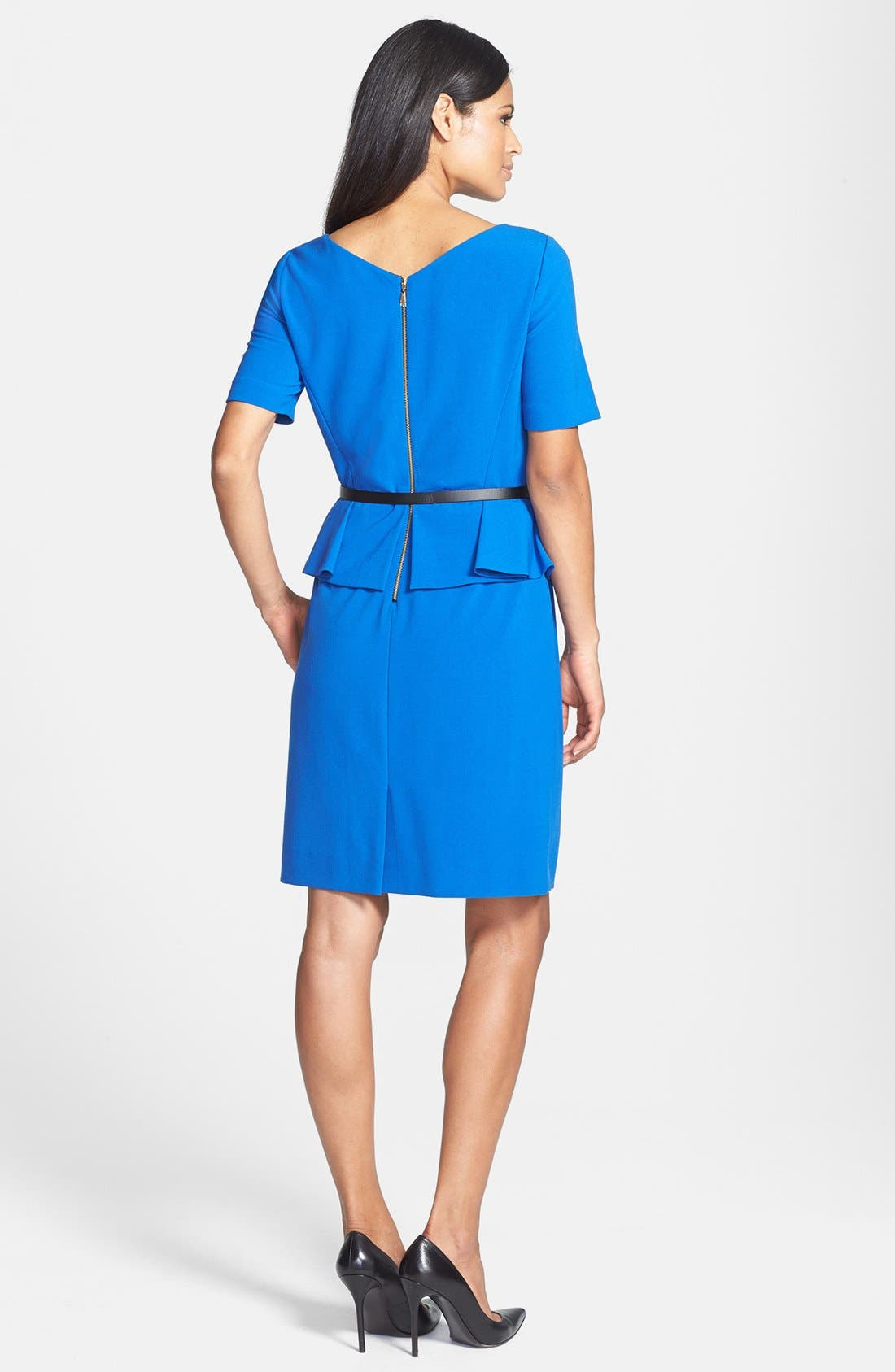 Alternate Image 3  - Tahari Stretch Peplum Sheath Dress