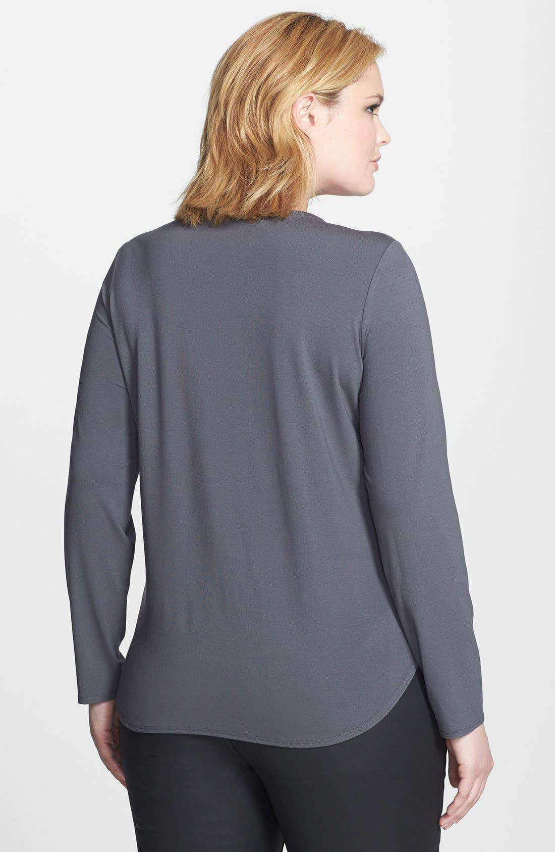 Alternate Image 2  - Eileen Fisher Jersey Top (Plus Size)