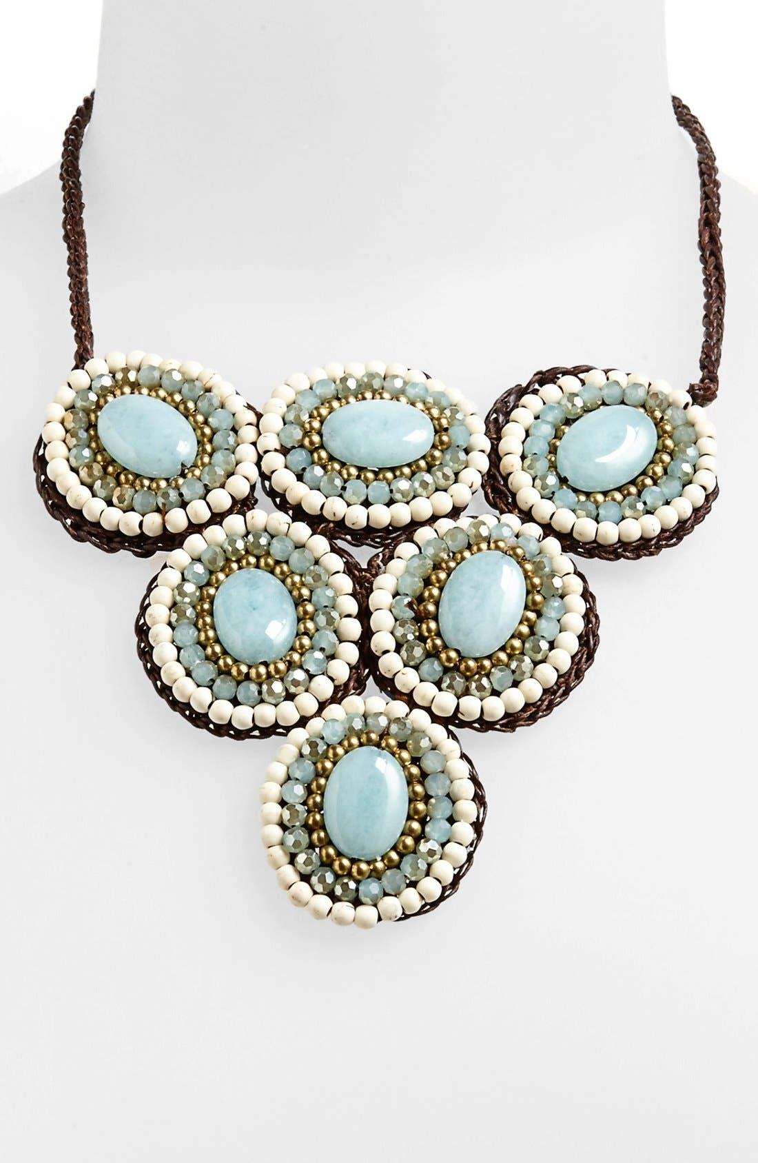 Main Image - Panacea Howlite Circle Bib Necklace