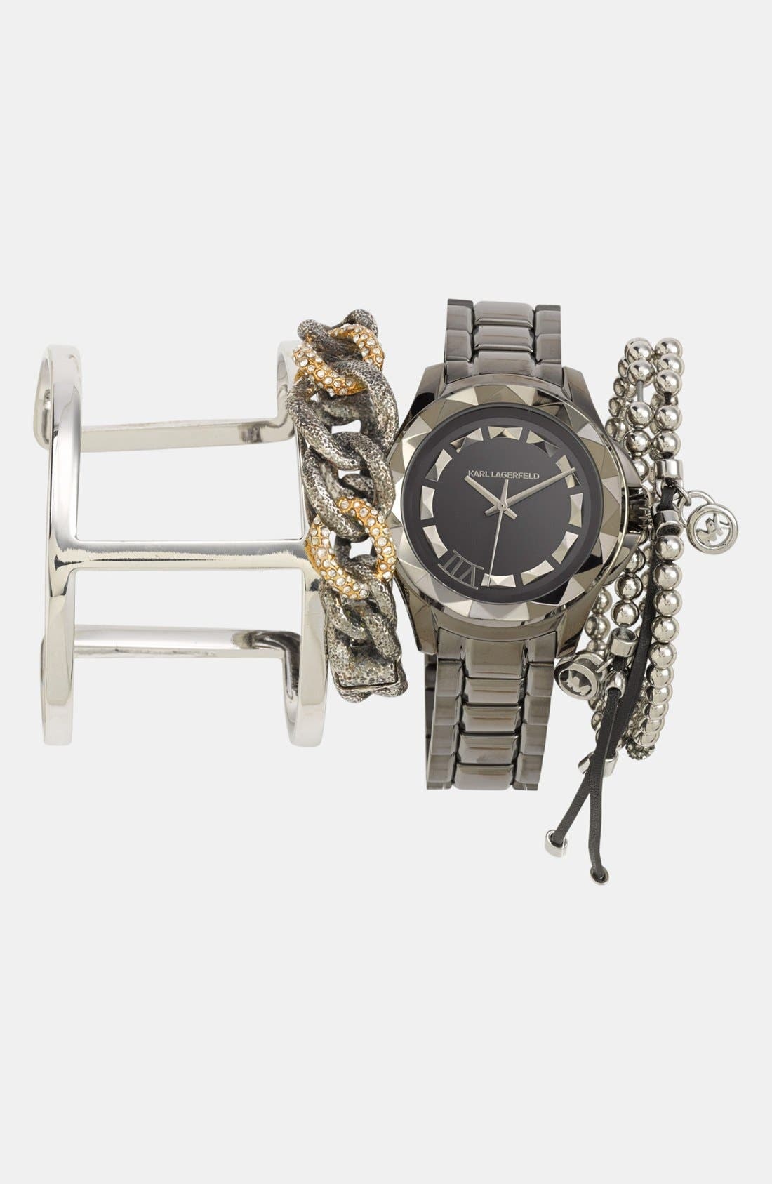 Alternate Image 2  - Michael Kors Bead & Crystal Stretch Bracelet