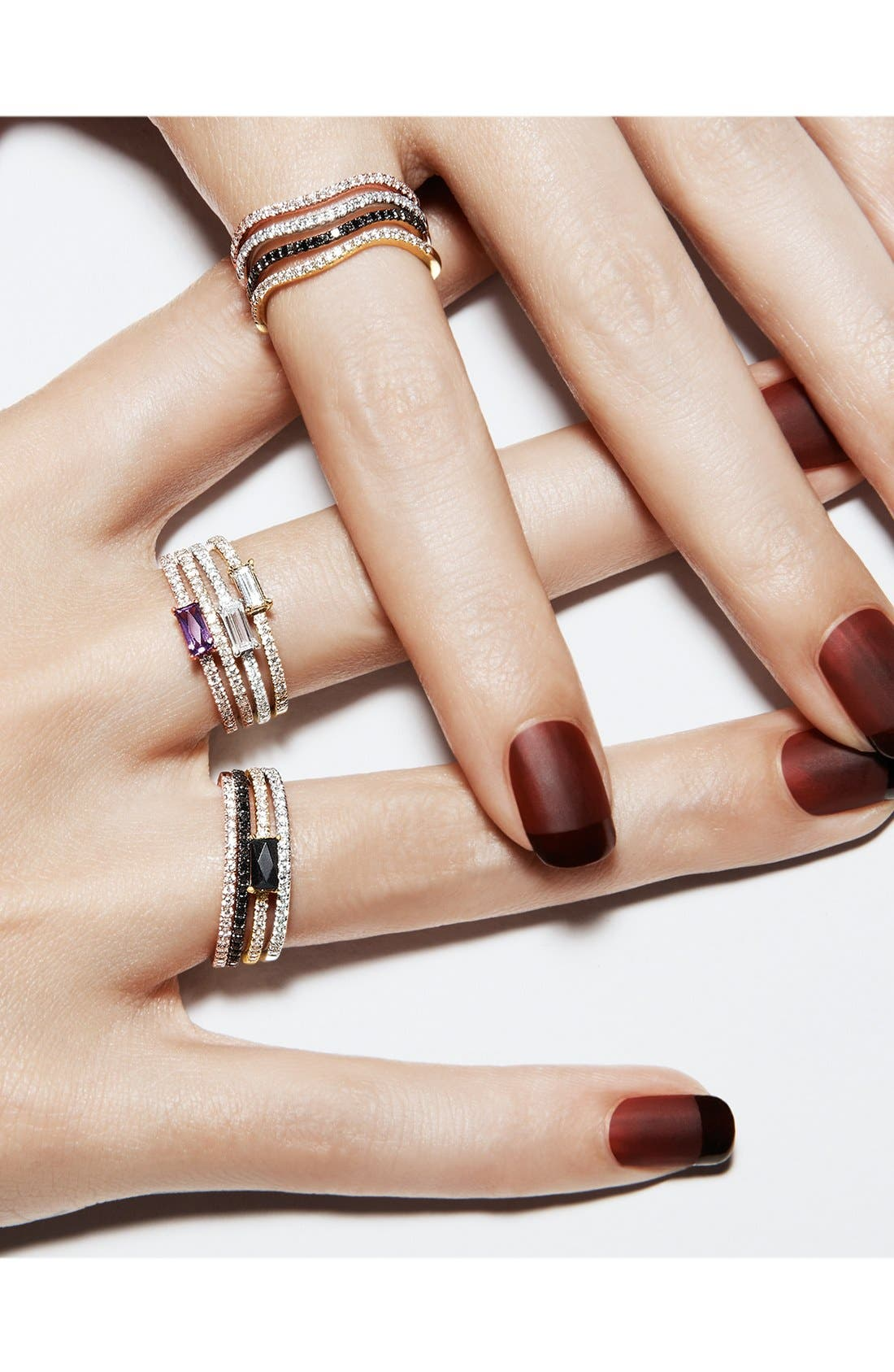 Alternate Image 2  - Bony Levy Stackable Black Onyx Baguette & Diamond Ring (Nordstrom Exclusive)