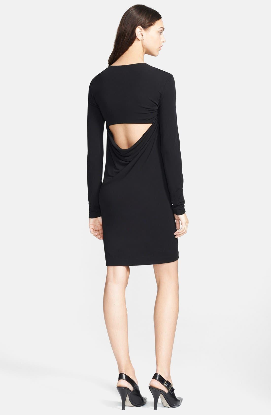 Alternate Image 2  - T by Alexander Wang Cowl Back Matte Jersey Dress