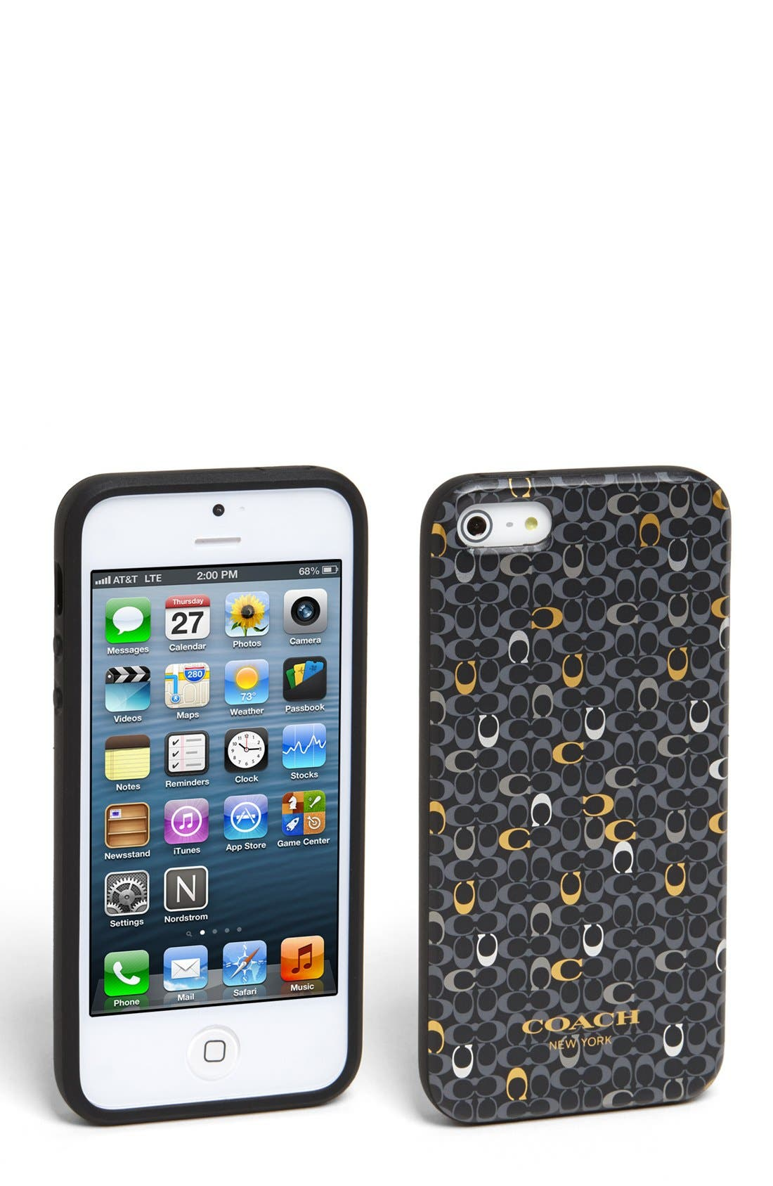 Main Image - COACH 'Signature' iPhone 5 & 5s Case
