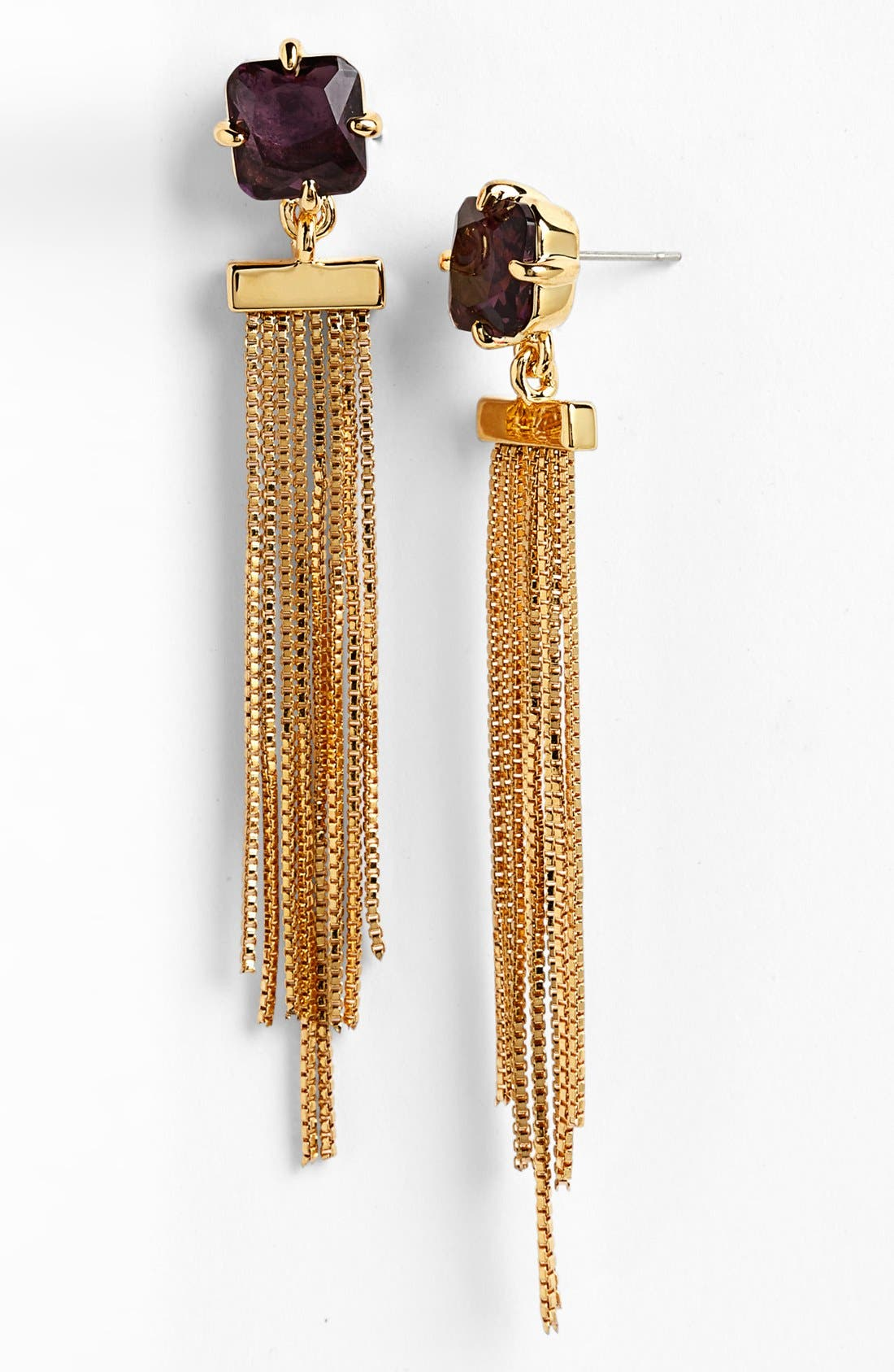Alternate Image 1 Selected - Vince Camuto 'Jewel Purpose' Chain Fringe Linear Earrings