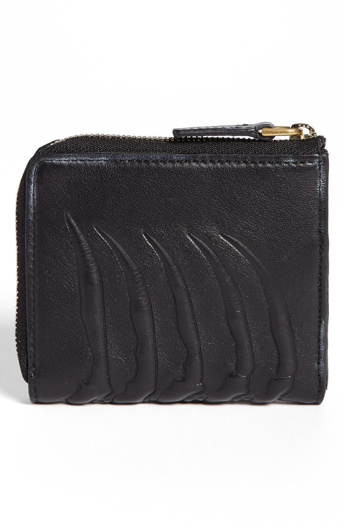 Alternate Image 3  - Alexander McQueen Rib Cage Leather Half Zip Wallet