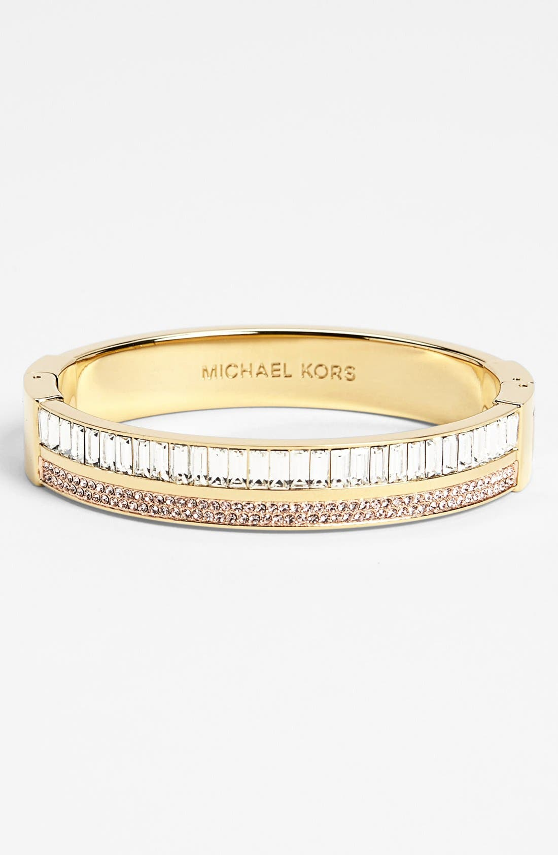 Alternate Image 1 Selected - Michael Kors 'Modernist Glitz' Hinged Bangle