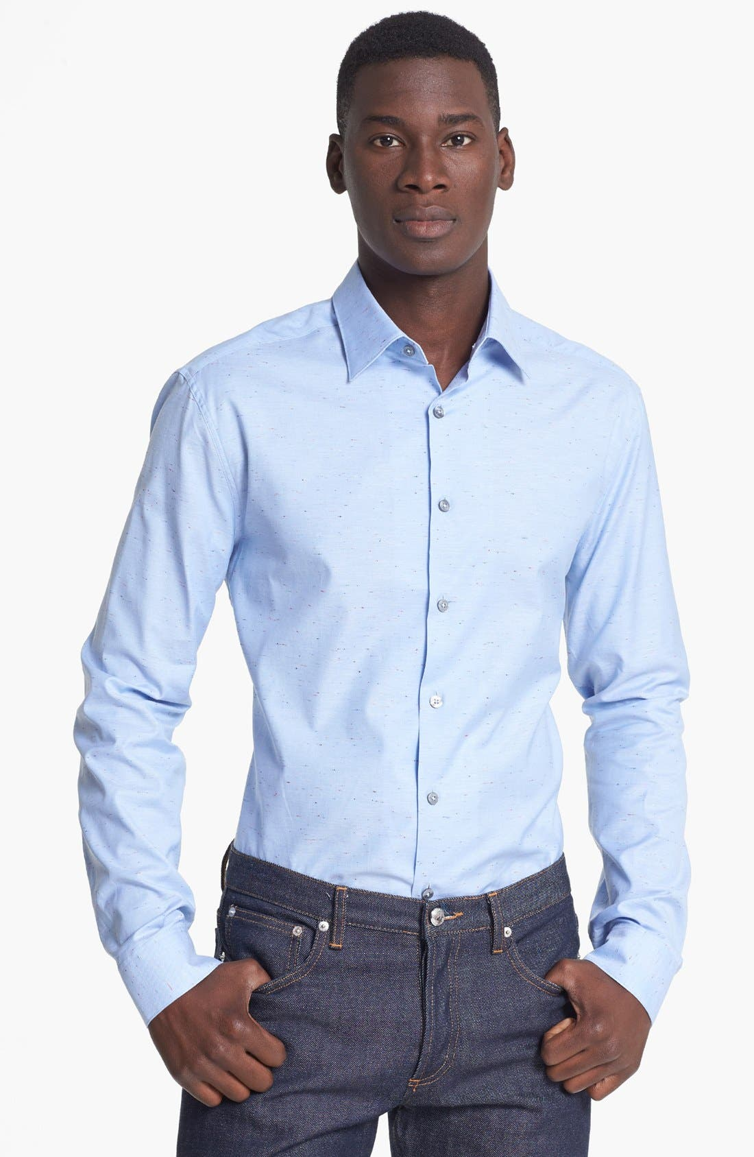 Alternate Image 1 Selected - Paul Smith London Slim Fit Nep Oxford Dress Shirt