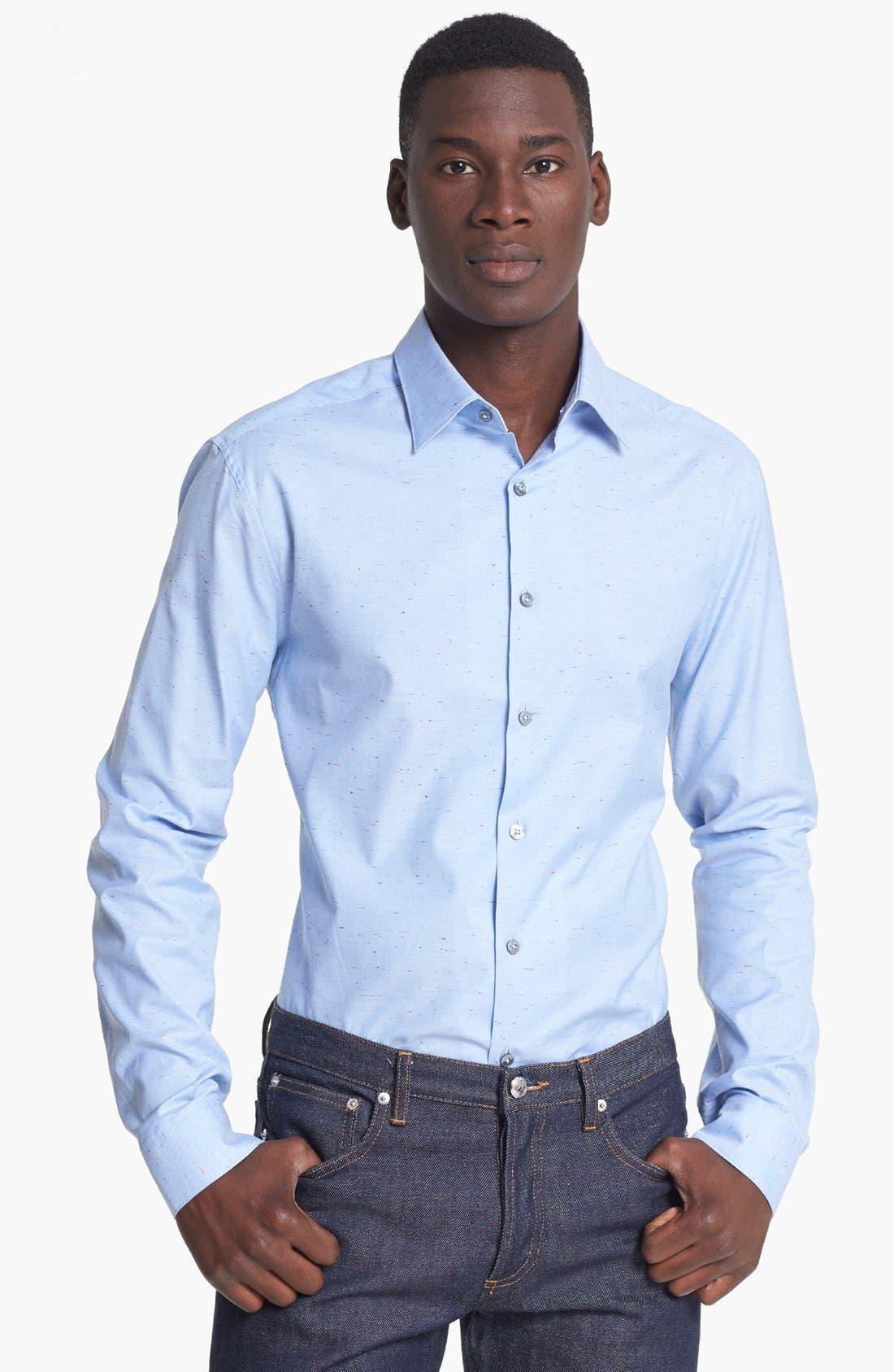 Main Image - Paul Smith London Slim Fit Nep Oxford Dress Shirt