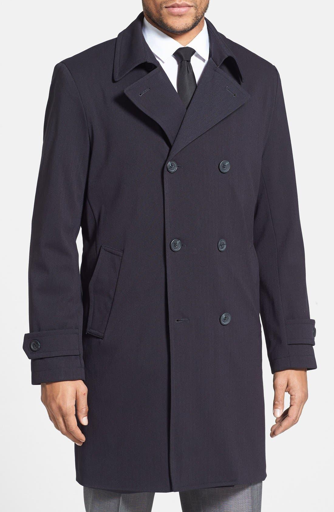 Main Image - Michael Kors 'Laz' Waterproof Double Breasted Topcoat