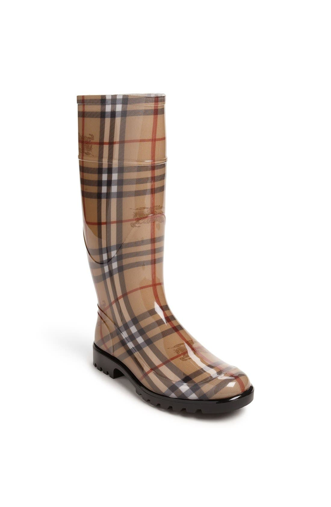 Main Image - Burberry Tall Rain Boot (Women)
