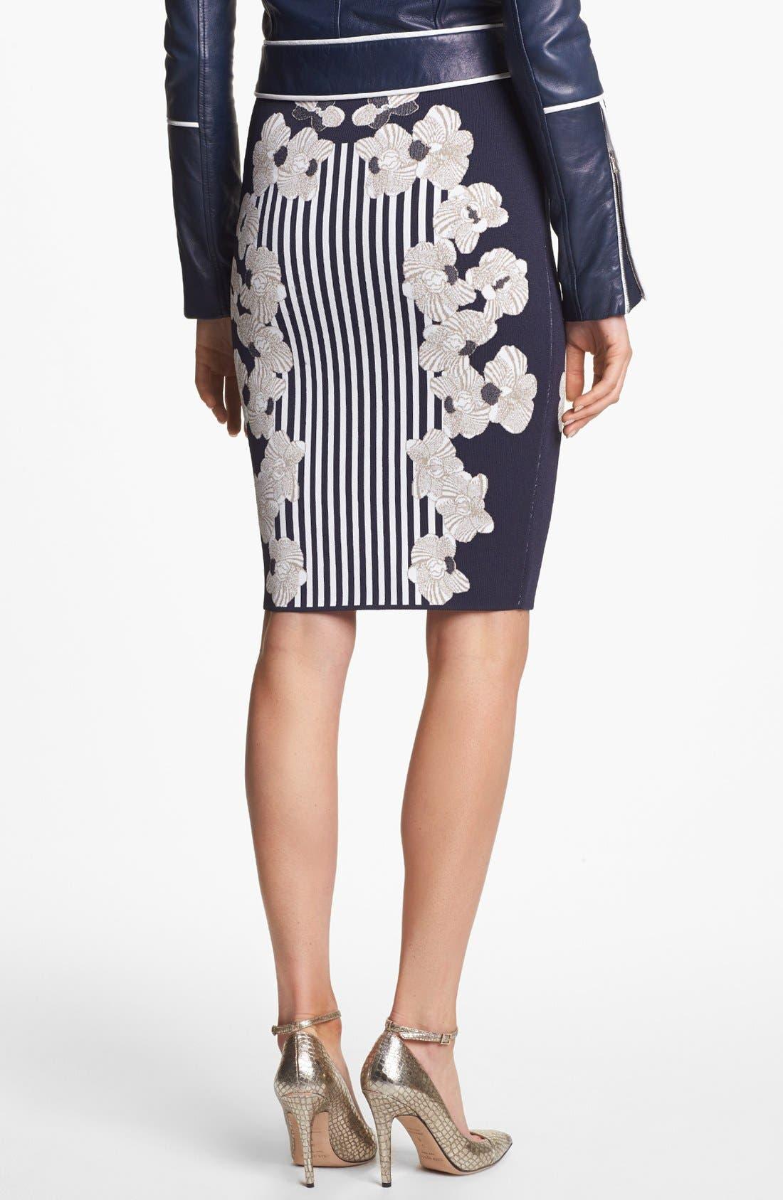 Alternate Image 2  - Diane von Furstenberg 'Kacee' Print Twill Pencil Skirt
