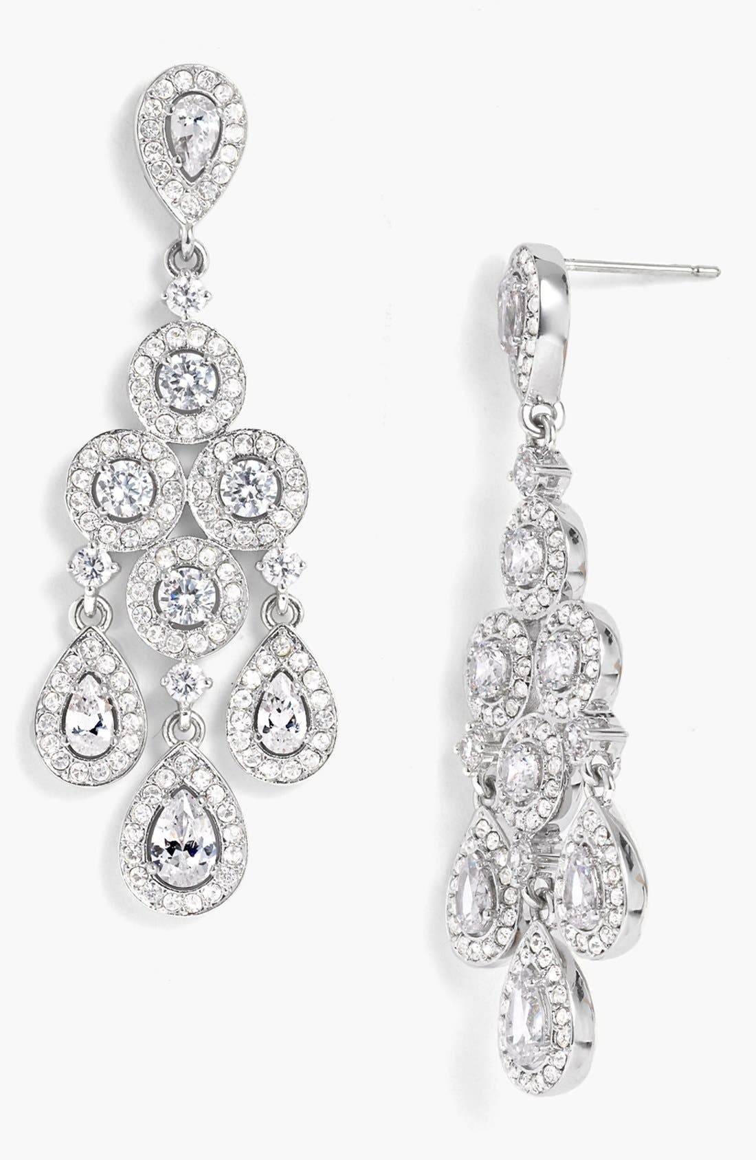 Alternate Image 1  - Nadri Framed Chandelier Earrings