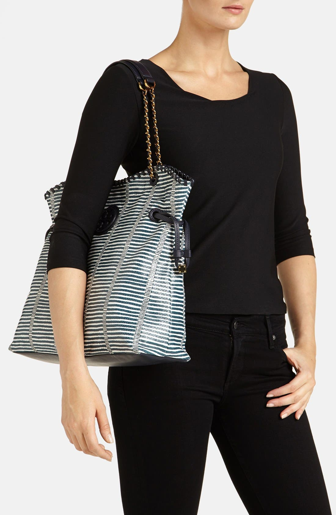 Alternate Image 2  - Tory Burch 'Marion Patchwork' Leather Tote