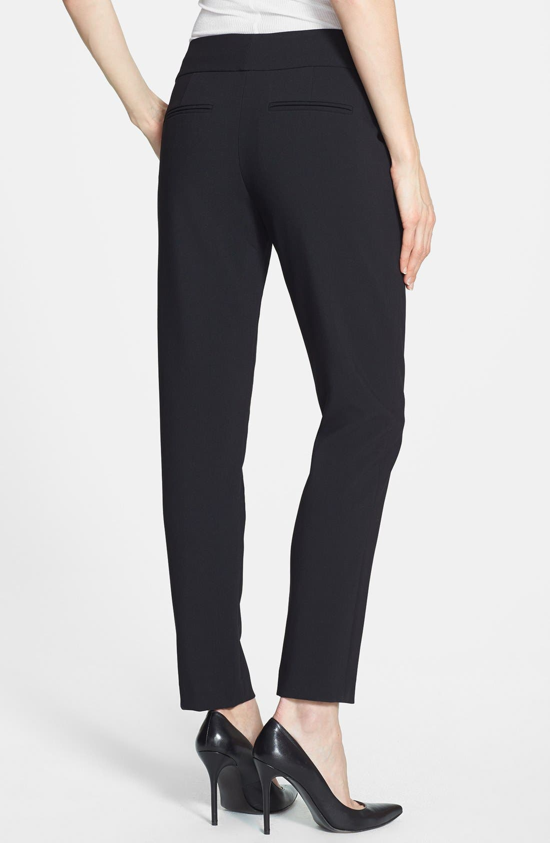 Alternate Image 2  - Rebecca Taylor Crop Straight Leg Trousers