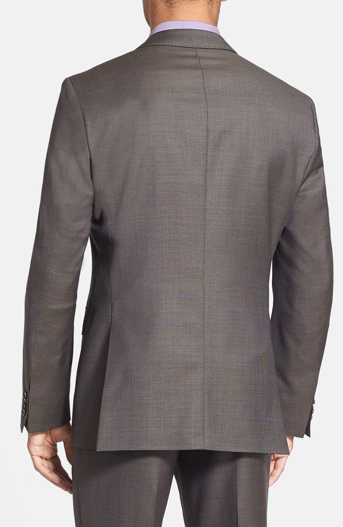 Alternate Image 6  - BOSS HUGO BOSS 'James/Sharp' Trim Fit Wool Suit