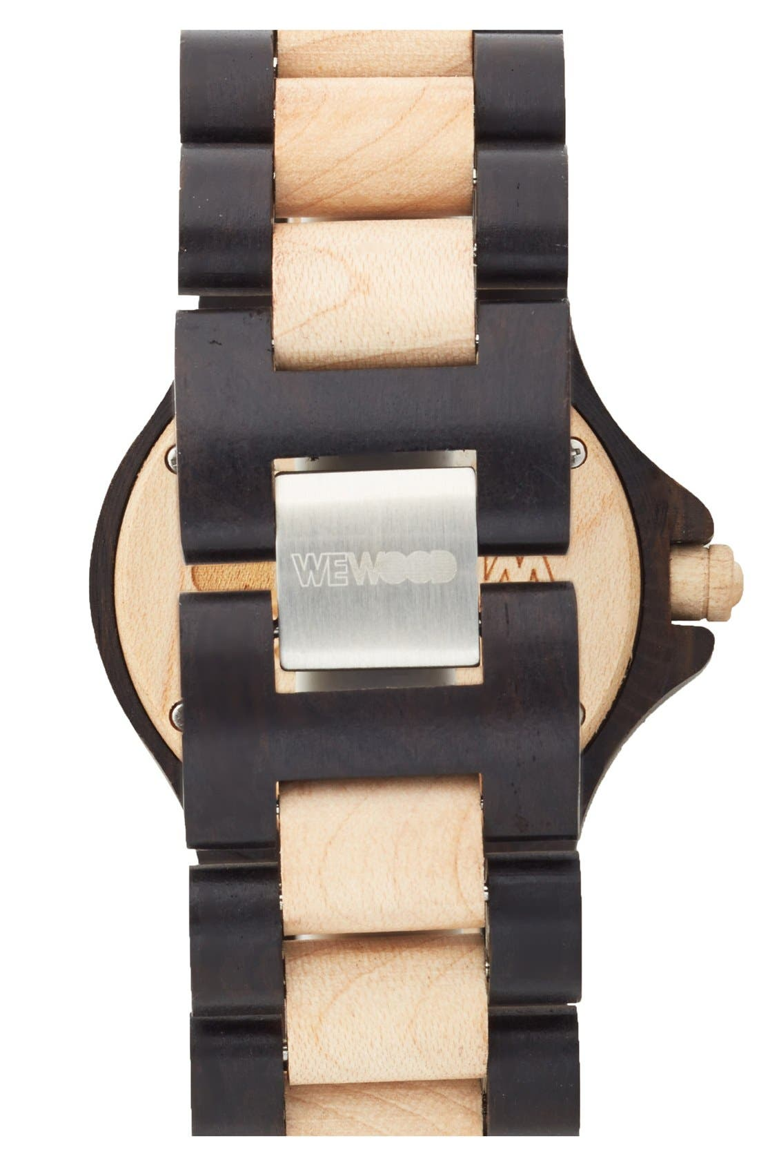 Alternate Image 2  - WeWOOD 'Date' Bracelet Watch, 40mm