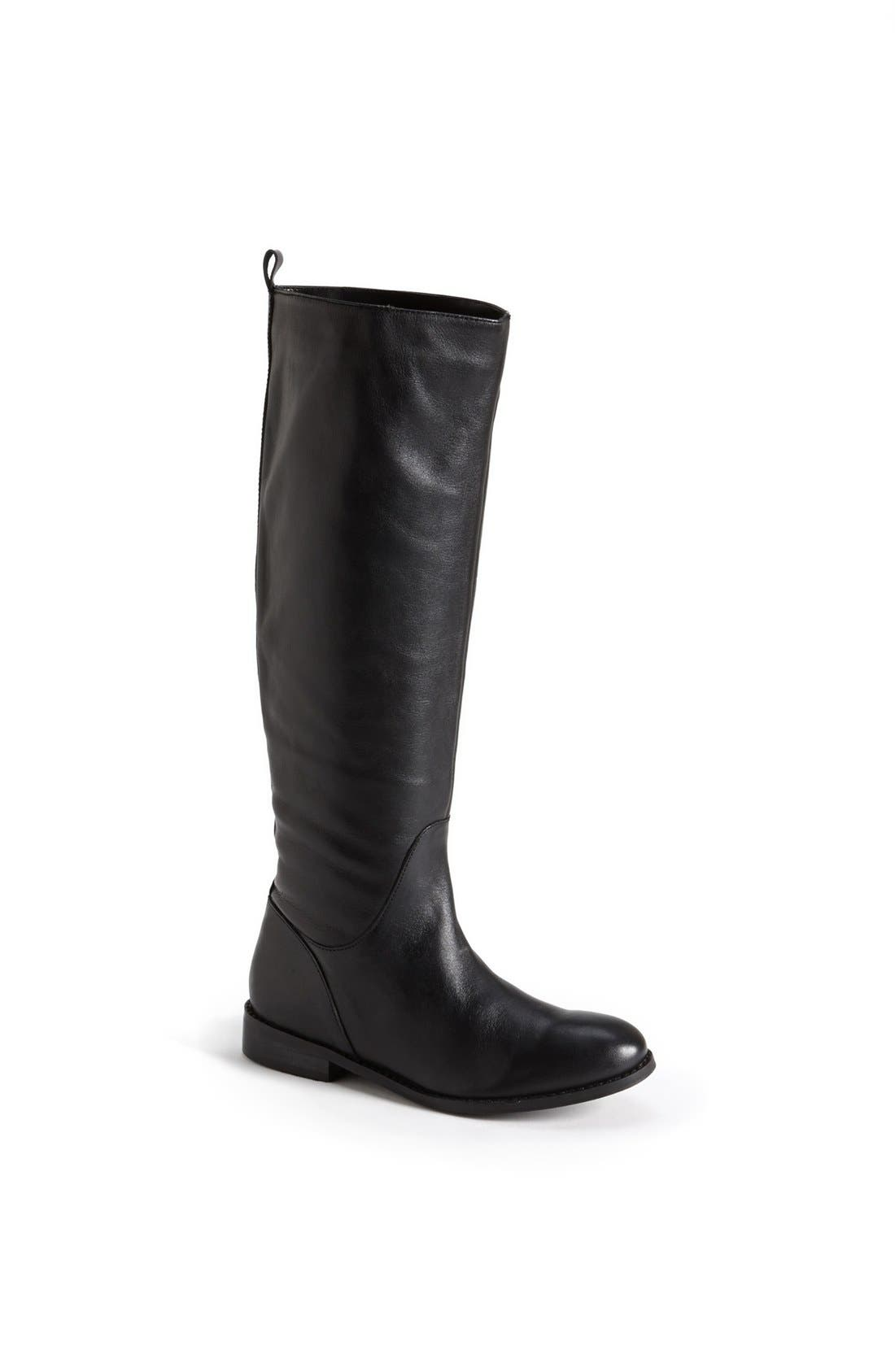 Main Image - Topshop 'Dancer' Leather Riding Boot