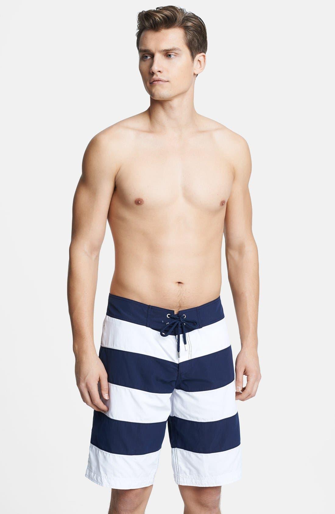 Alternate Image 1 Selected - Vilebrequin 'Octant' Stripe Board Shorts