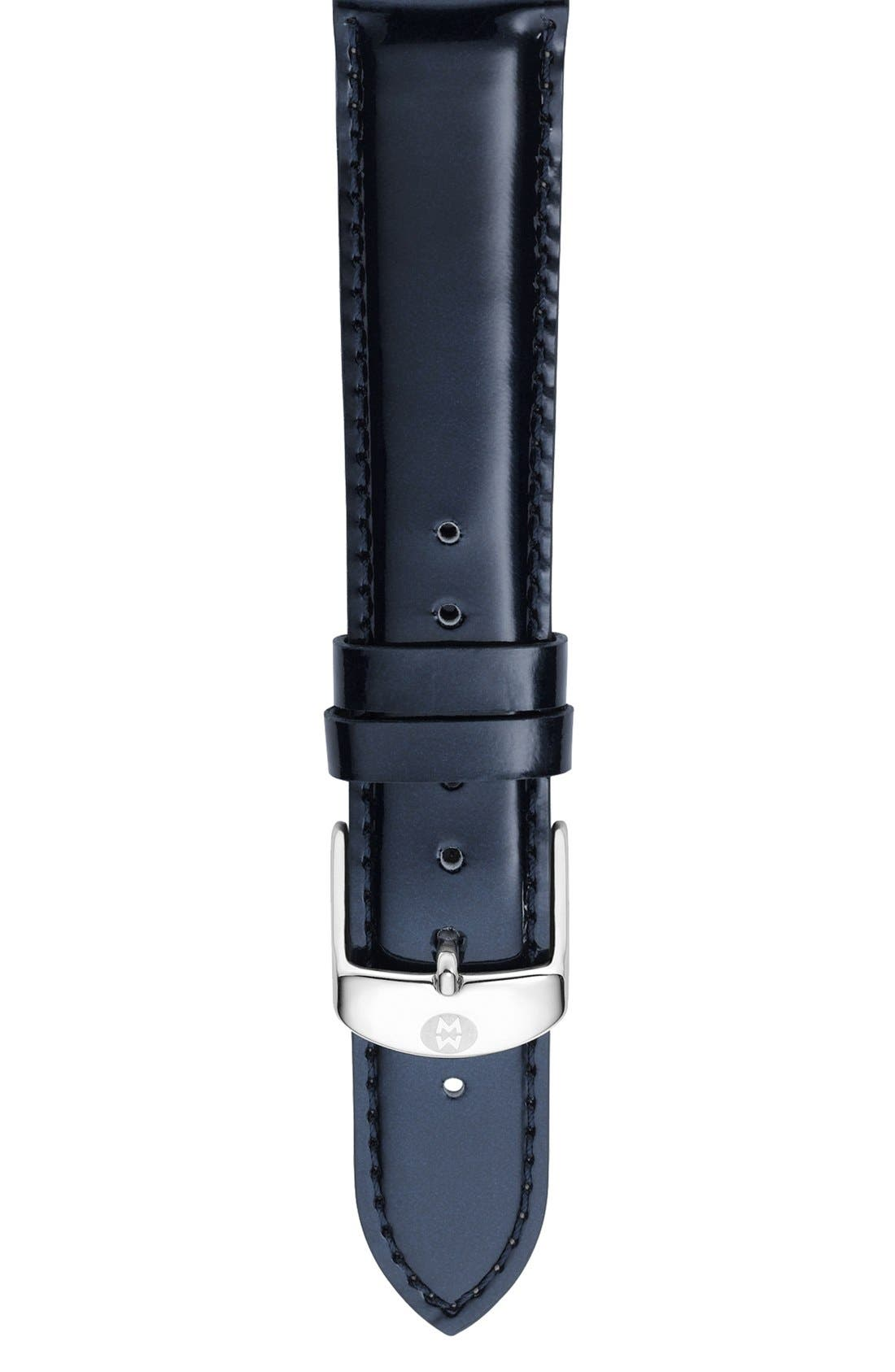 Alternate Image 1 Selected - MICHELE 16mm Patent Leather Watch Strap
