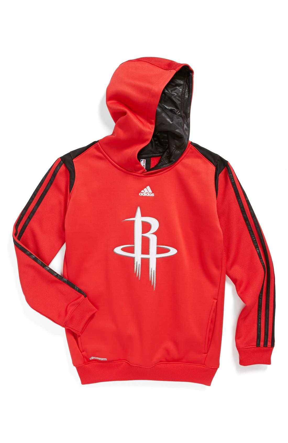 Alternate Image 1 Selected - adidas 'Houston Rockets - On Court' Hoodie (Big Boys)