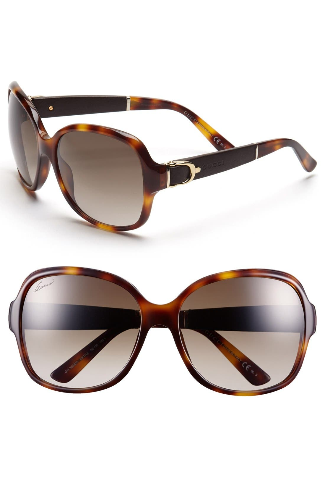 Main Image - Gucci 58mm Oversized Sunglasses