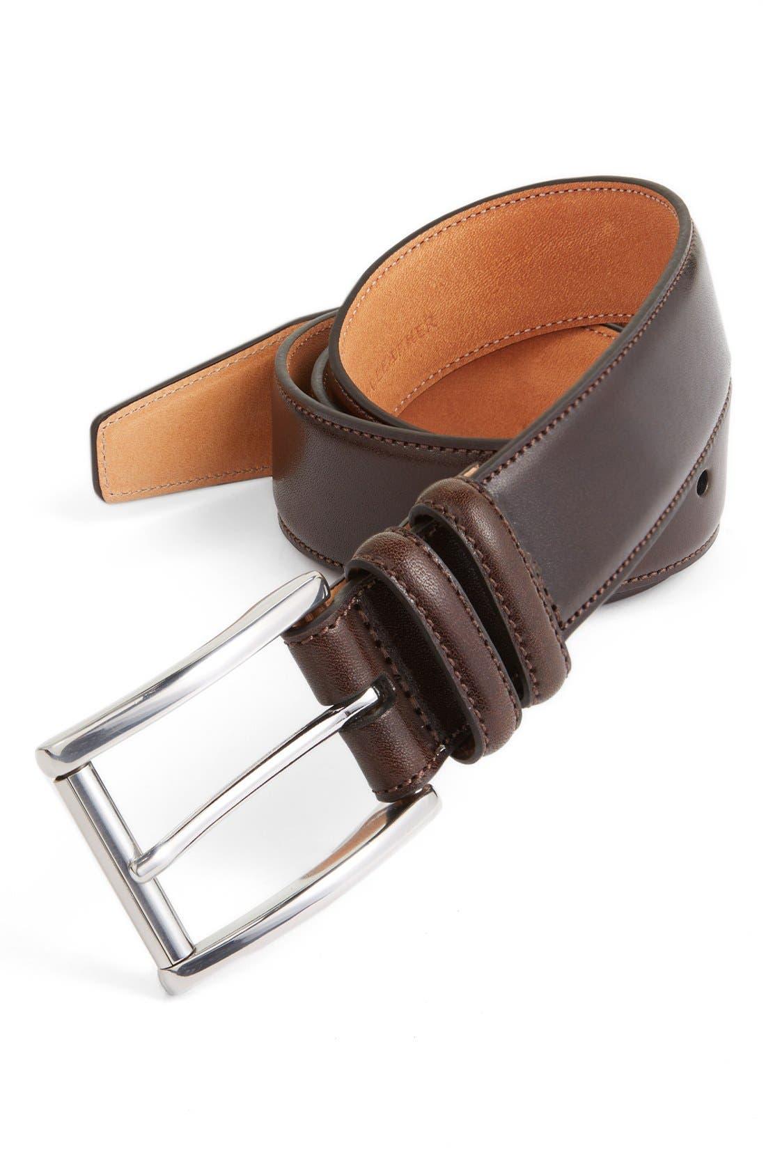 Alternate Image 1 Selected - Trafalgar 'Lorenzo' Leather Belt