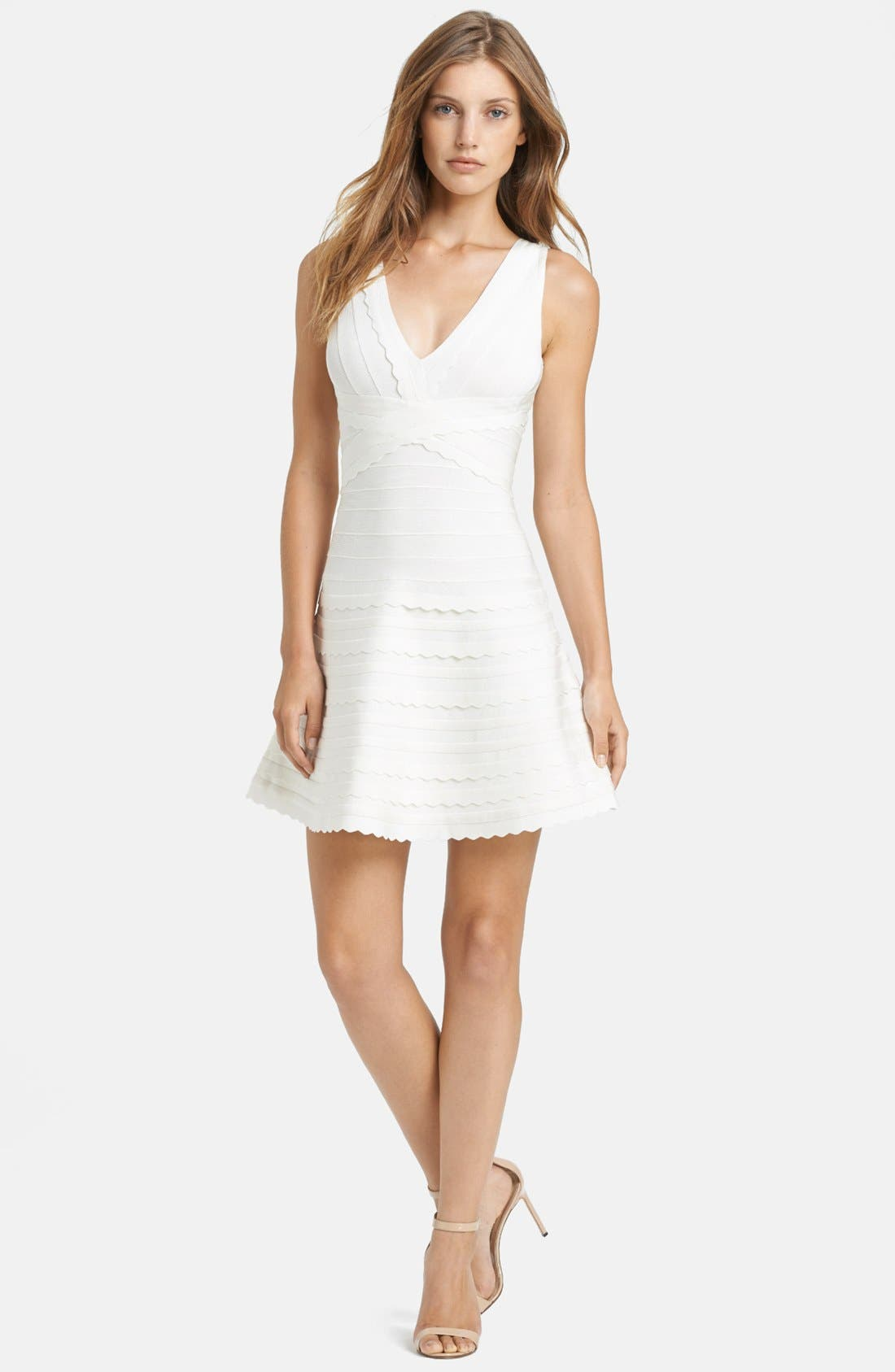 Main Image - Herve Leger Scallop Detail Dress