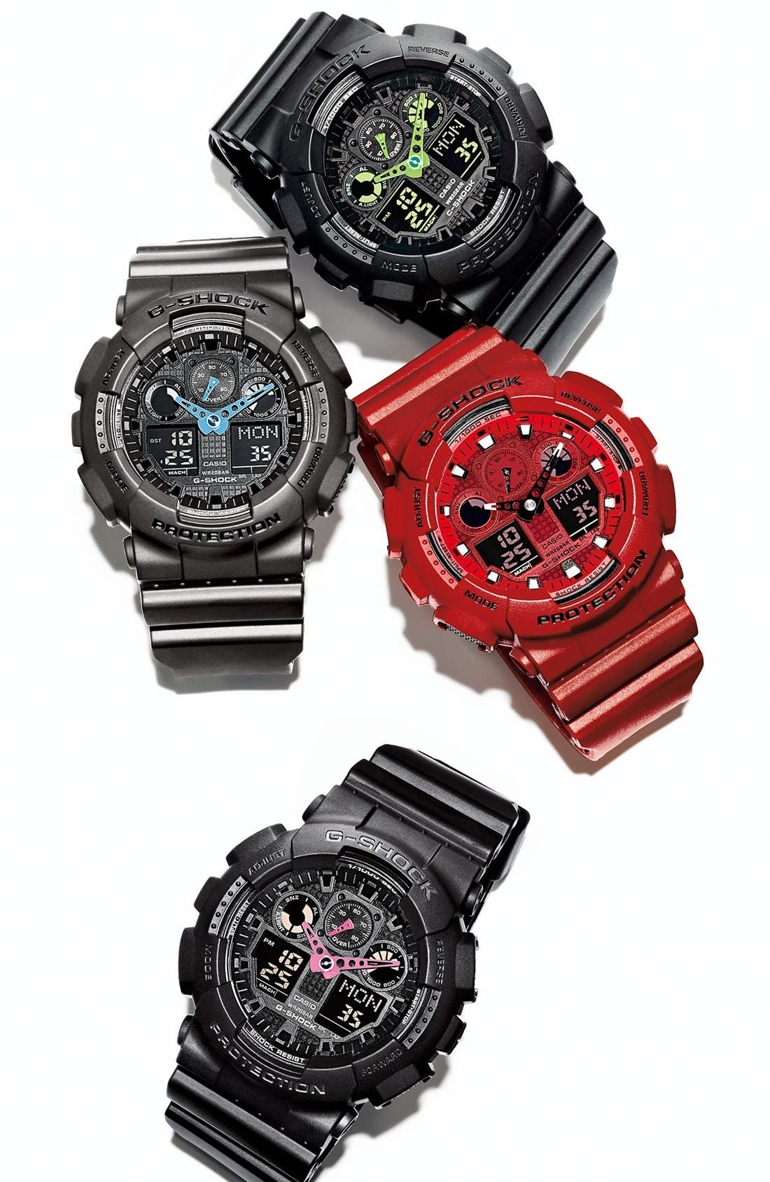 Alternate Image 4  - G-Shock 'Neon Highlights' Ana-Digi Watch, 55mm