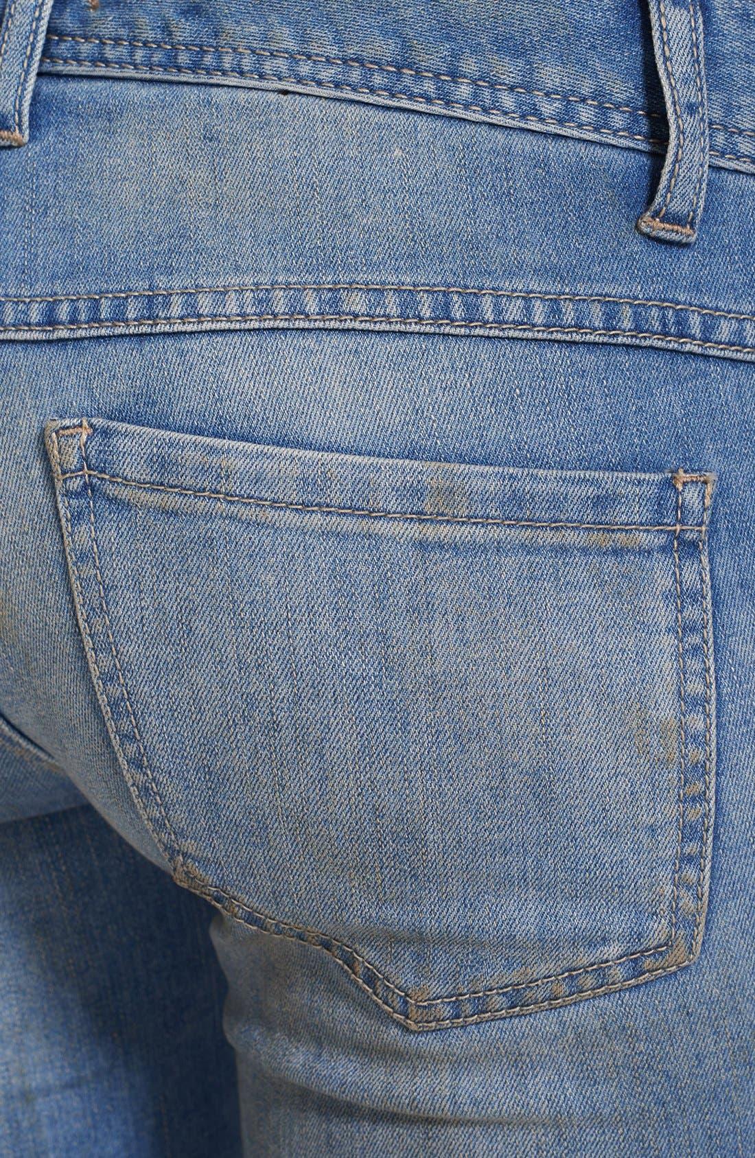 Alternate Image 3  - Free People Destroyed Skinny Ankle Jeans (Engineered Wash)