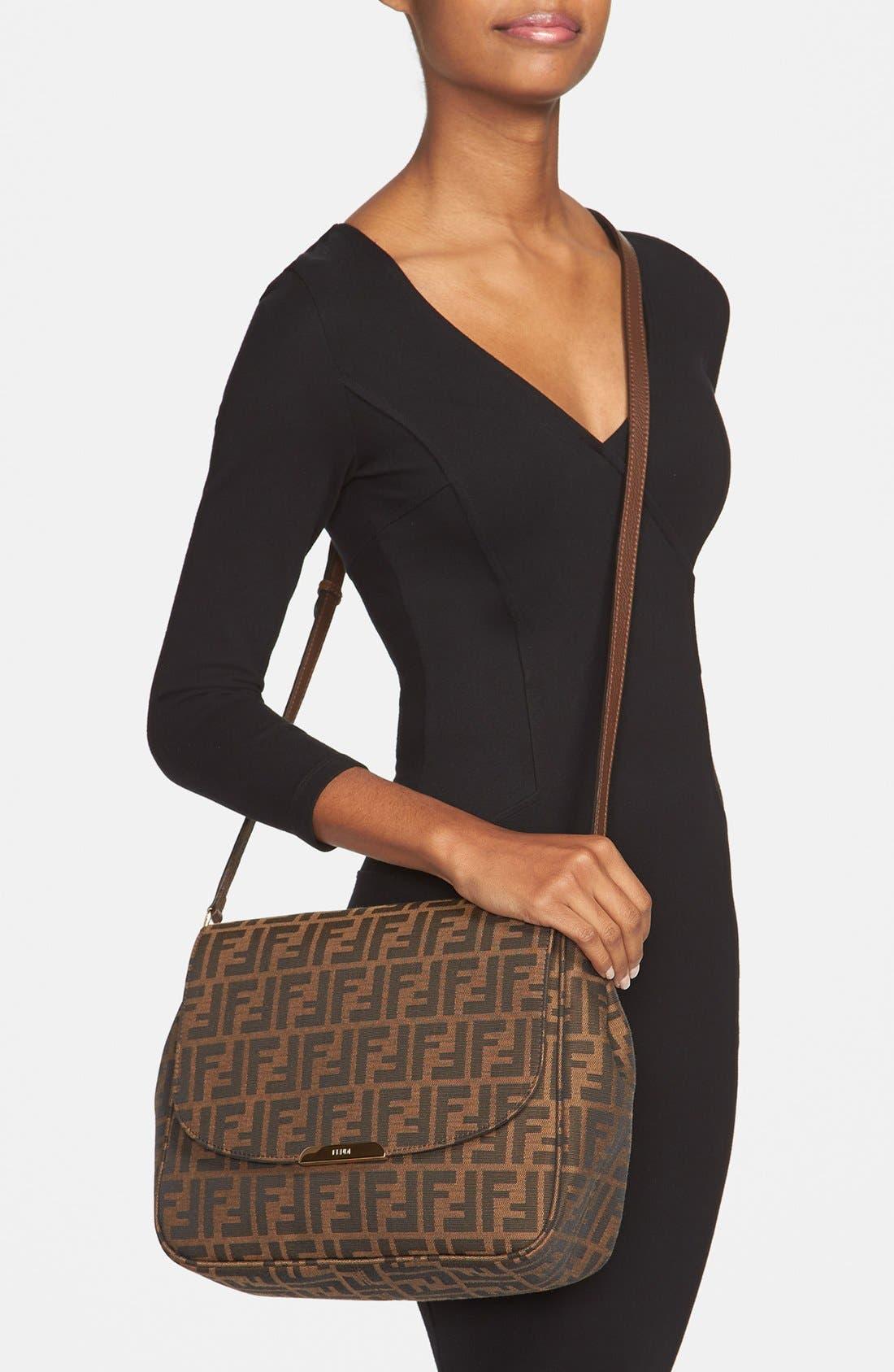 Alternate Image 2  - Fendi 'Zucca - Large' Logo Jacquard Crossbody Bag