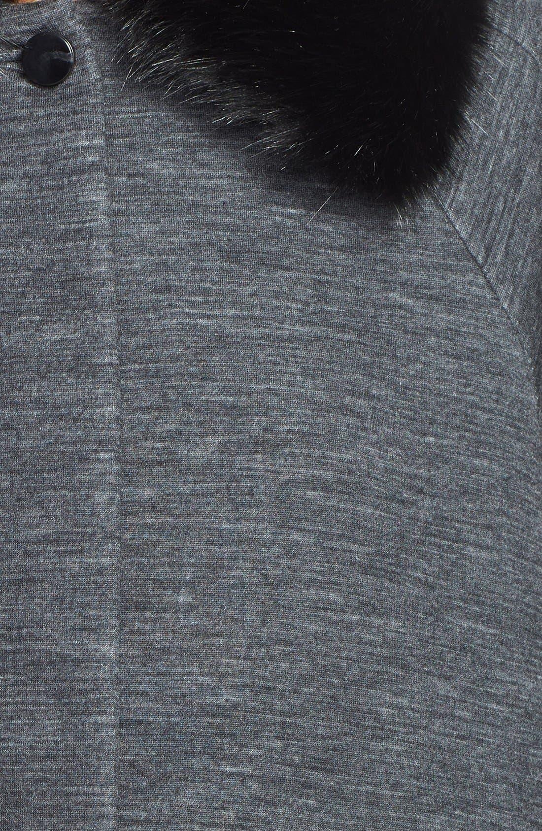 Alternate Image 3  - MARC BY MARC JACOBS 'Gertrude' Faux Fur & Double Face Wool Blend Coat