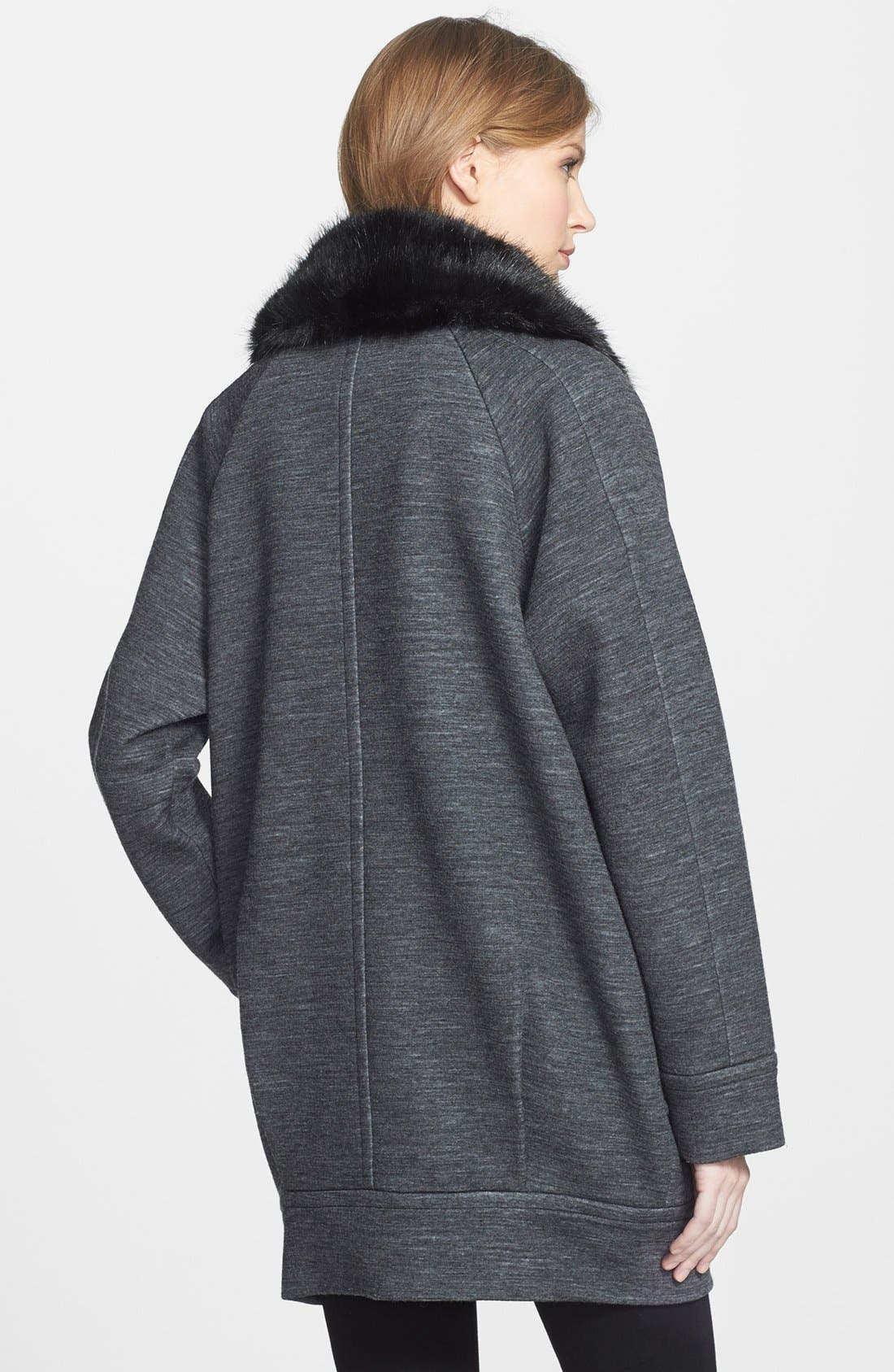 Alternate Image 2  - MARC BY MARC JACOBS 'Gertrude' Faux Fur & Double Face Wool Blend Coat