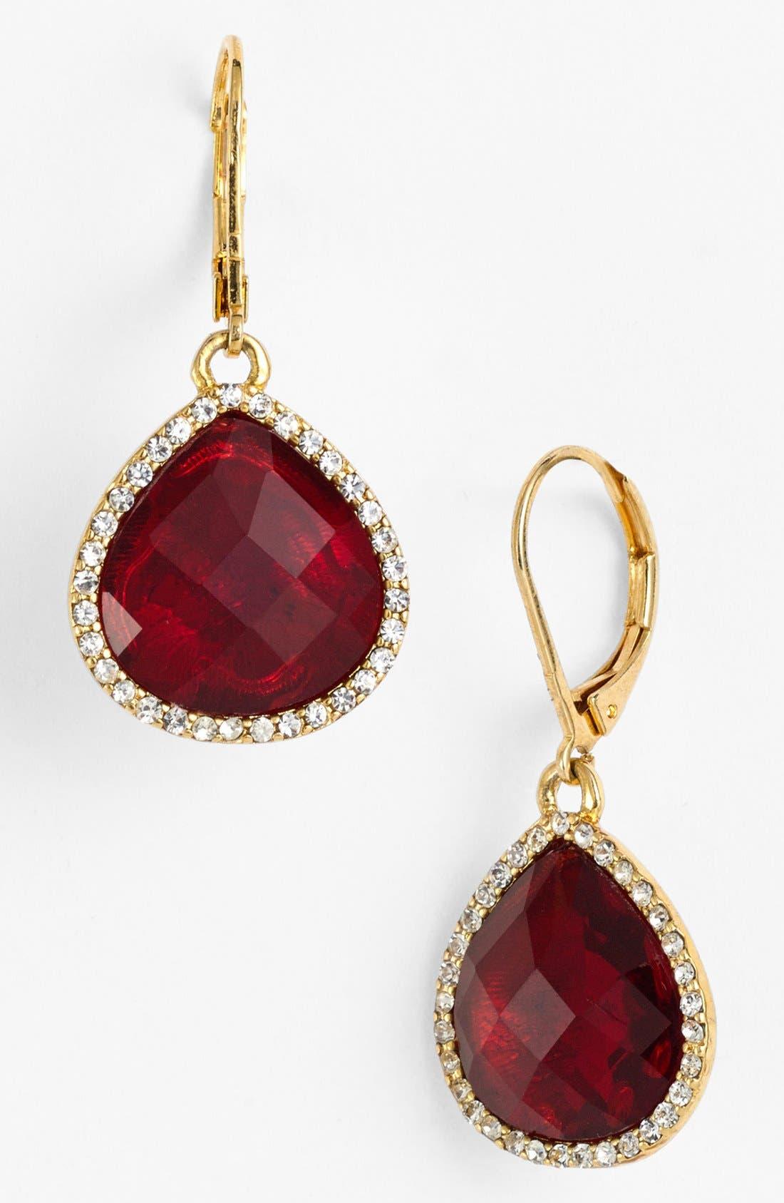 Main Image - Anne Klein Stone Teardrop Earrings