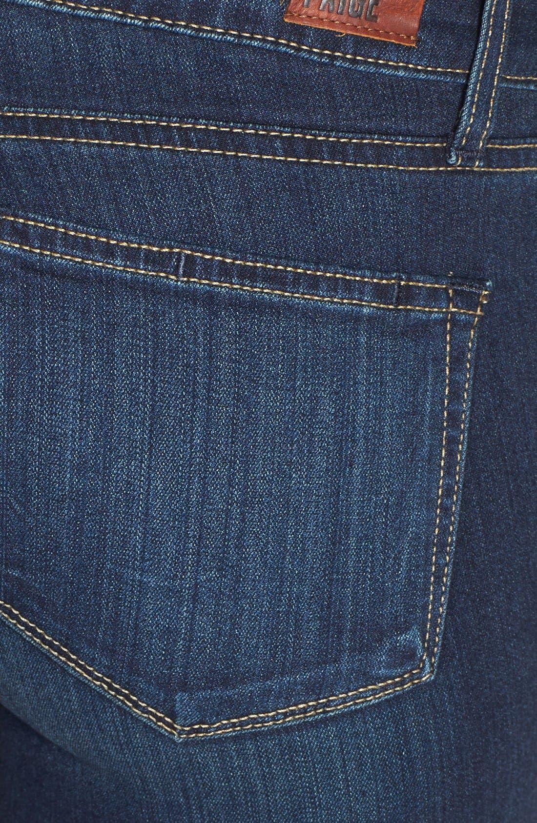 Alternate Image 4  - PAIGE Transcend - Verdugo Ankle Skinny Jeans (Nottingham)