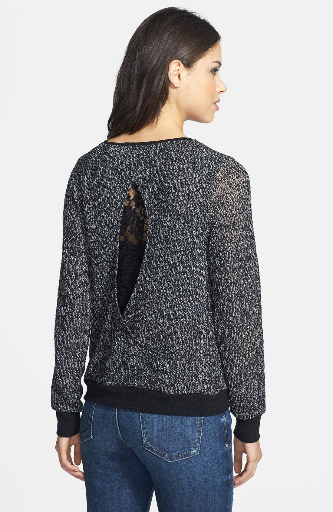 Alternate Image 2  - Olivia Moon Lace Inset Back Pullover