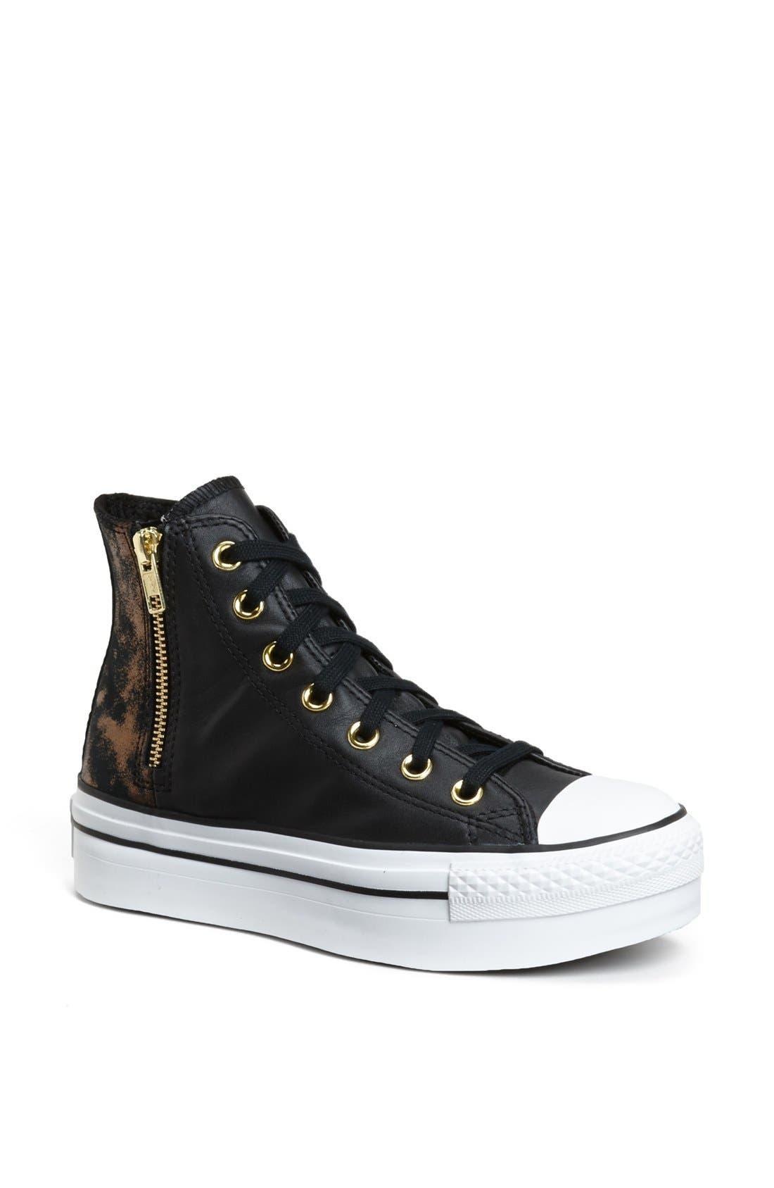Alternate Image 1 Selected - Converse High Top Platform Sneaker (Women)
