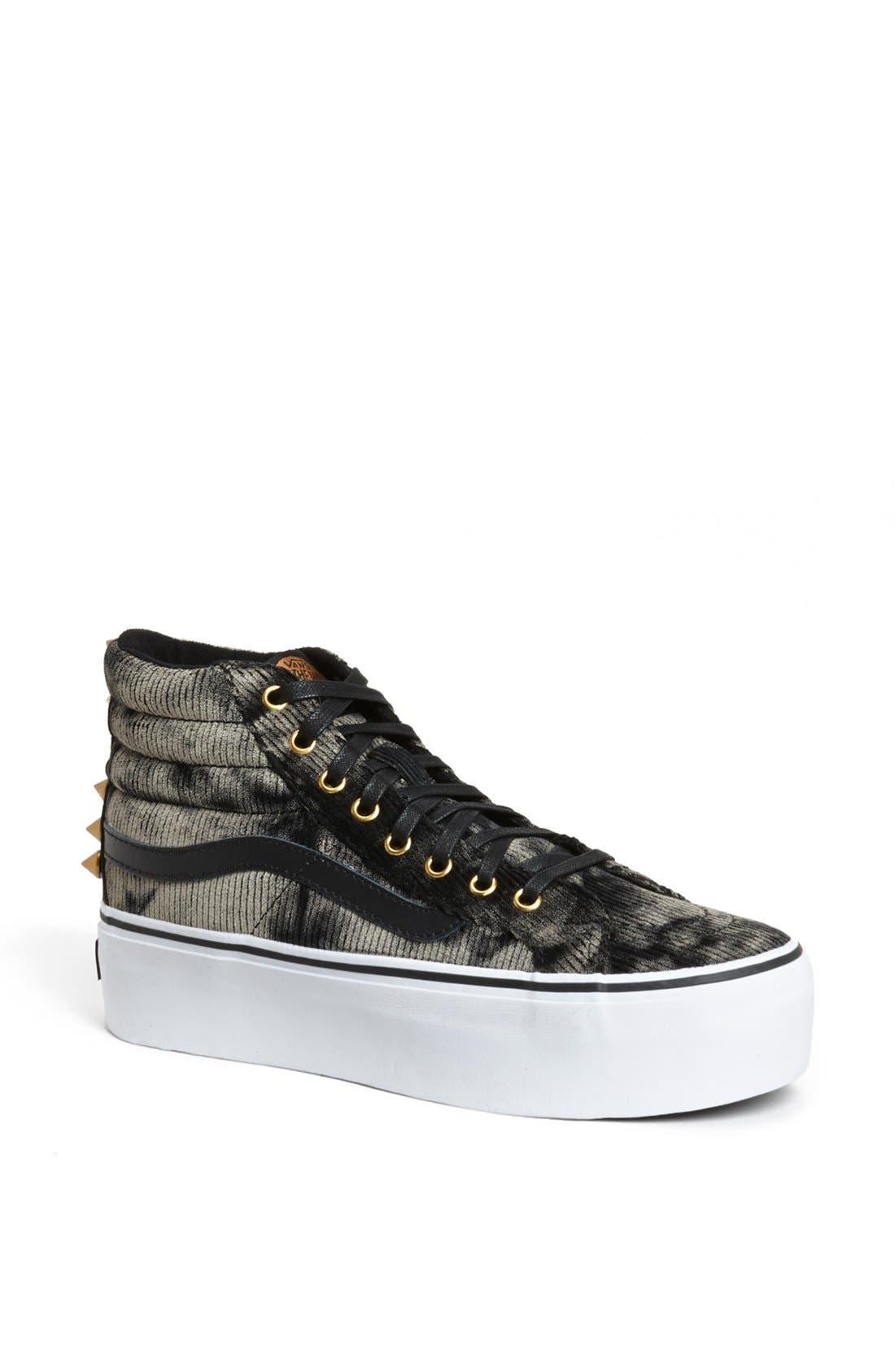Alternate Image 1 Selected - Vans 'Sk8 HI' Studded Platform Sneaker
