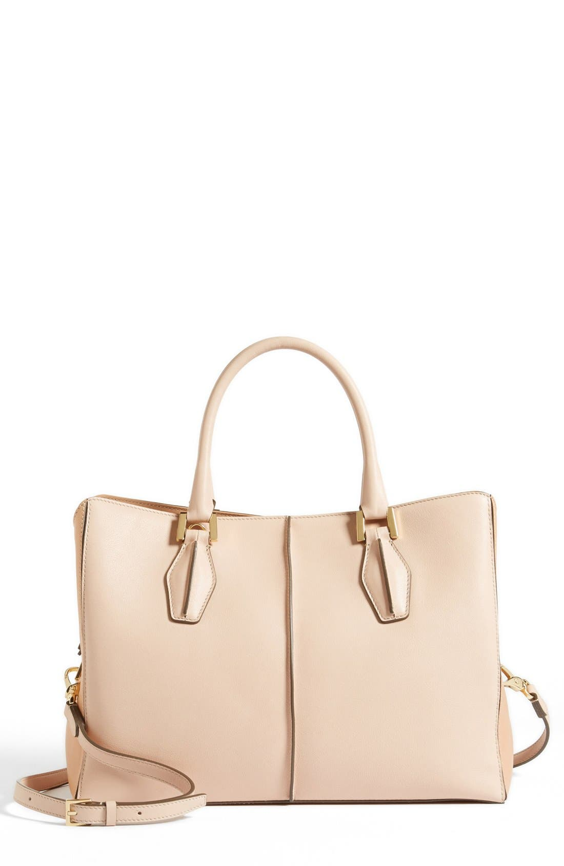 Alternate Image 1 Selected - Tod's 'D-Cube' Leather Shopper