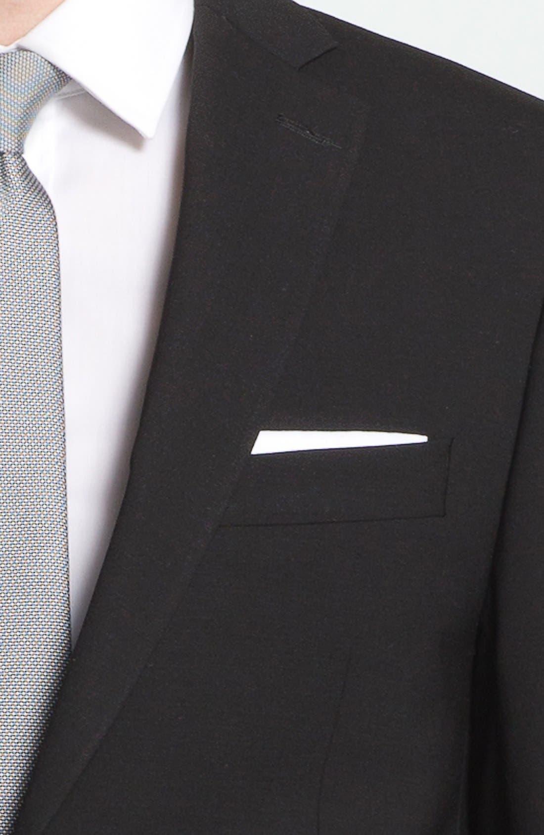 Alternate Image 4  - Michael Kors Trim Fit Stretch Wool Suit