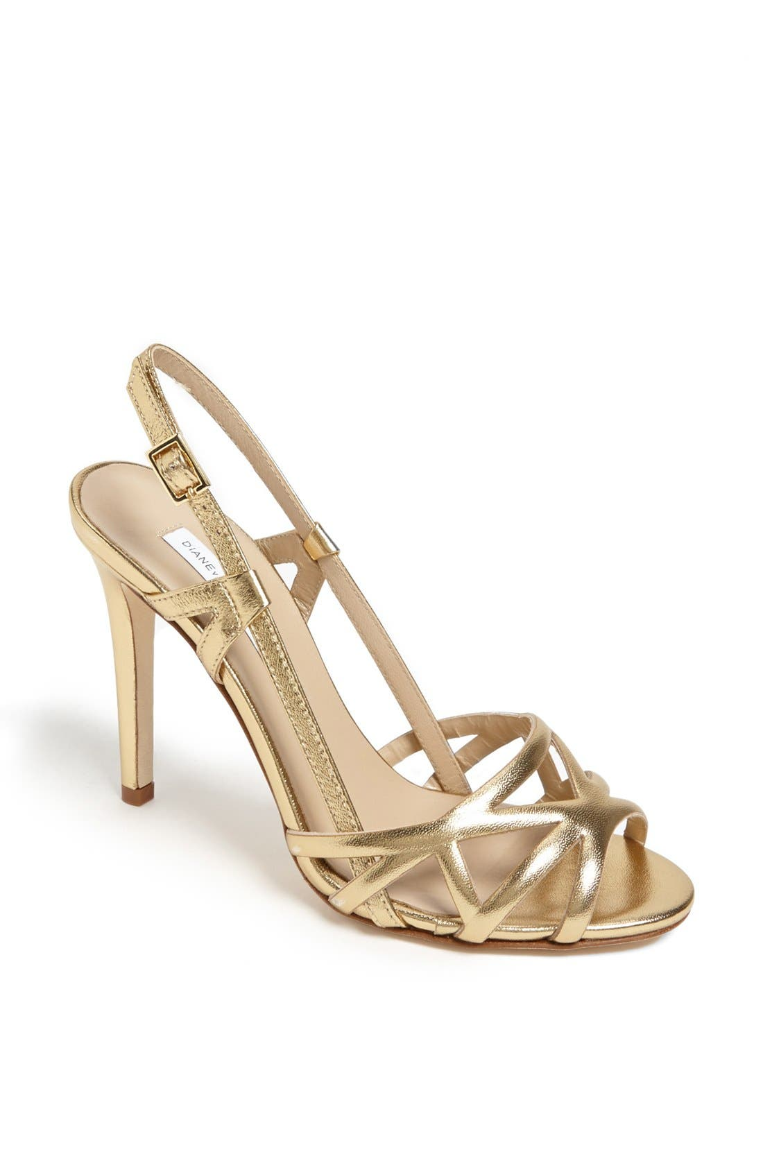 Alternate Image 1 Selected - Diane von Furstenberg 'Upton' Metallic Leather Sandal