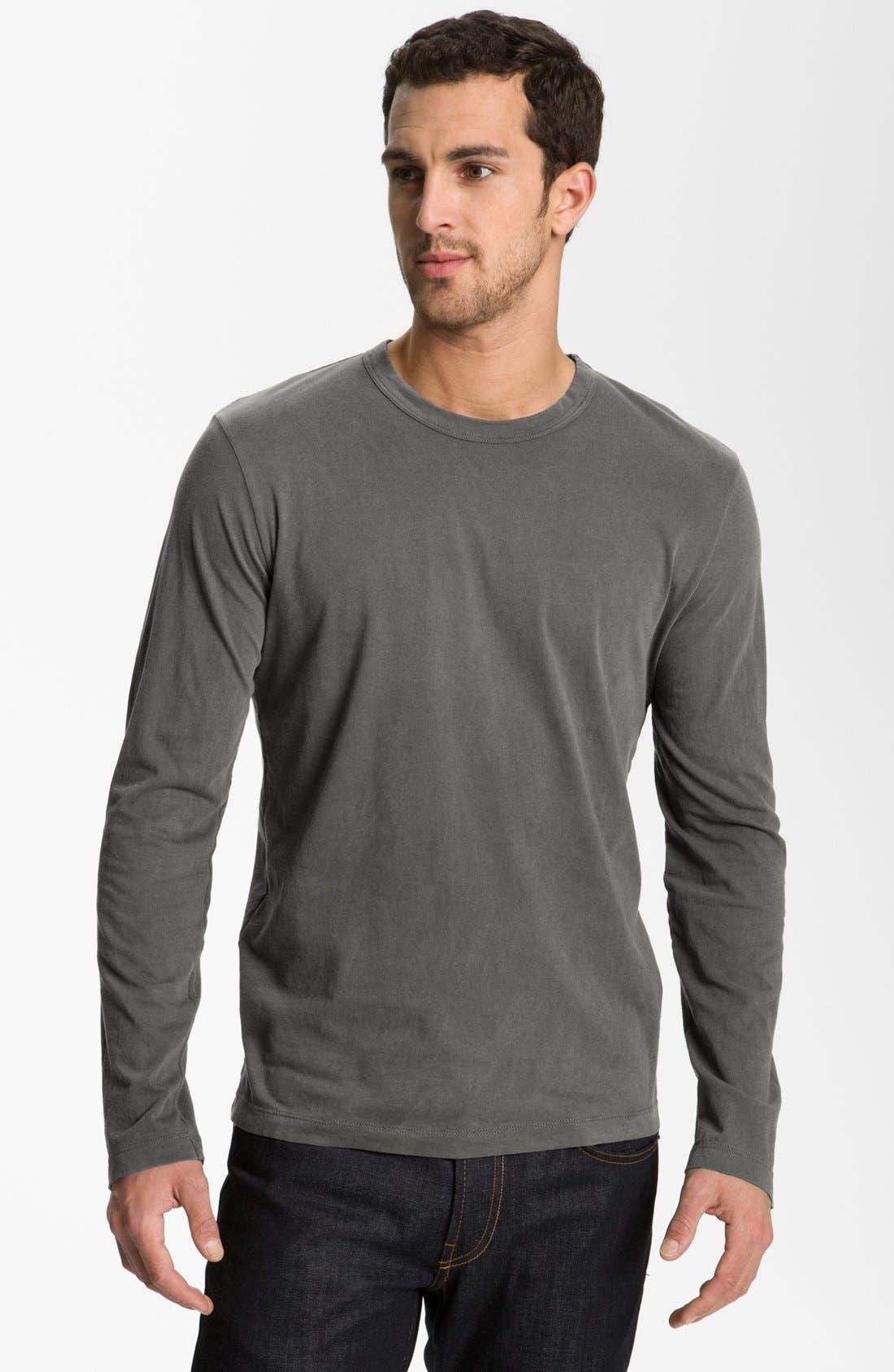 Alternate Image 1 Selected - James Perse Long Sleeve Crewneck T-Shirt