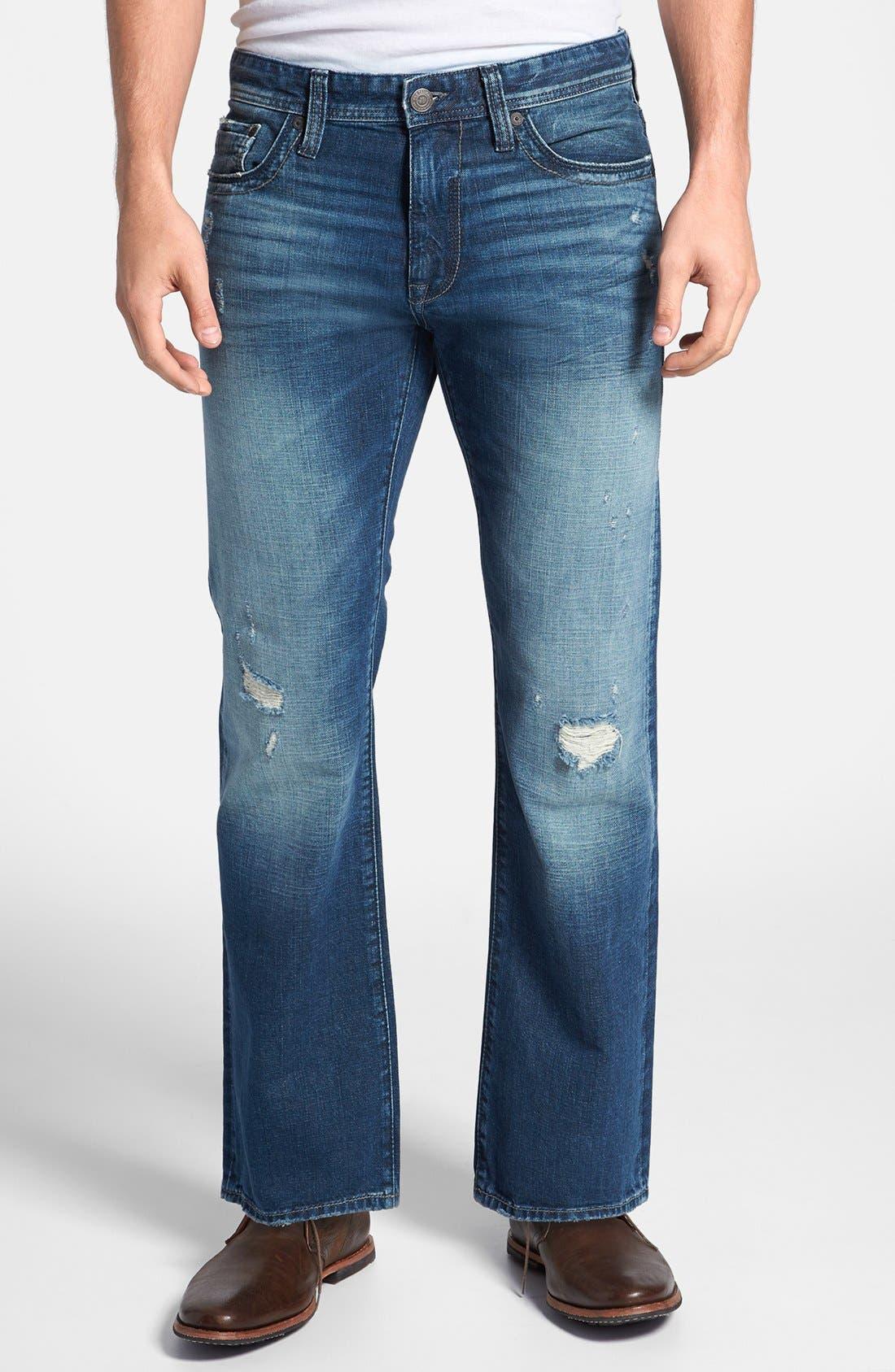 Main Image - Mavi Jeans 'Josh' Bootcut Jeans (Indigo Cashmere)
