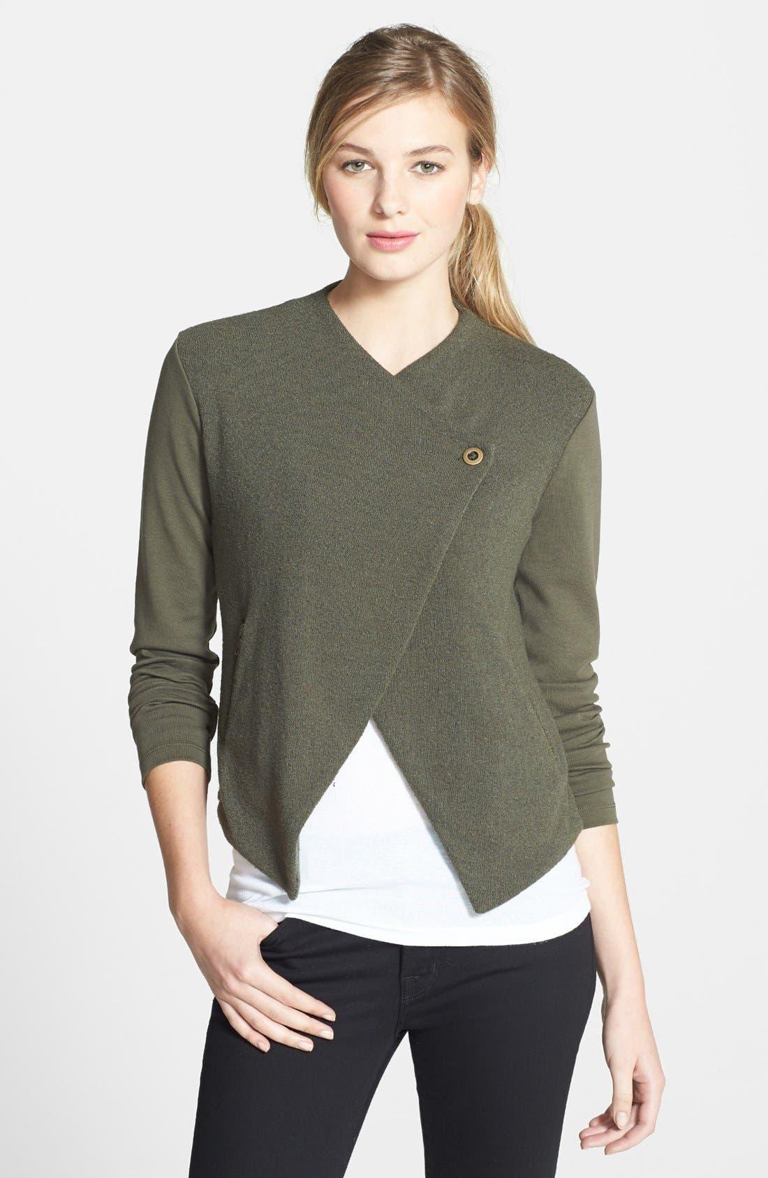 Alternate Image 1 Selected - Halogen® Tweed & Solid Knit Jacket