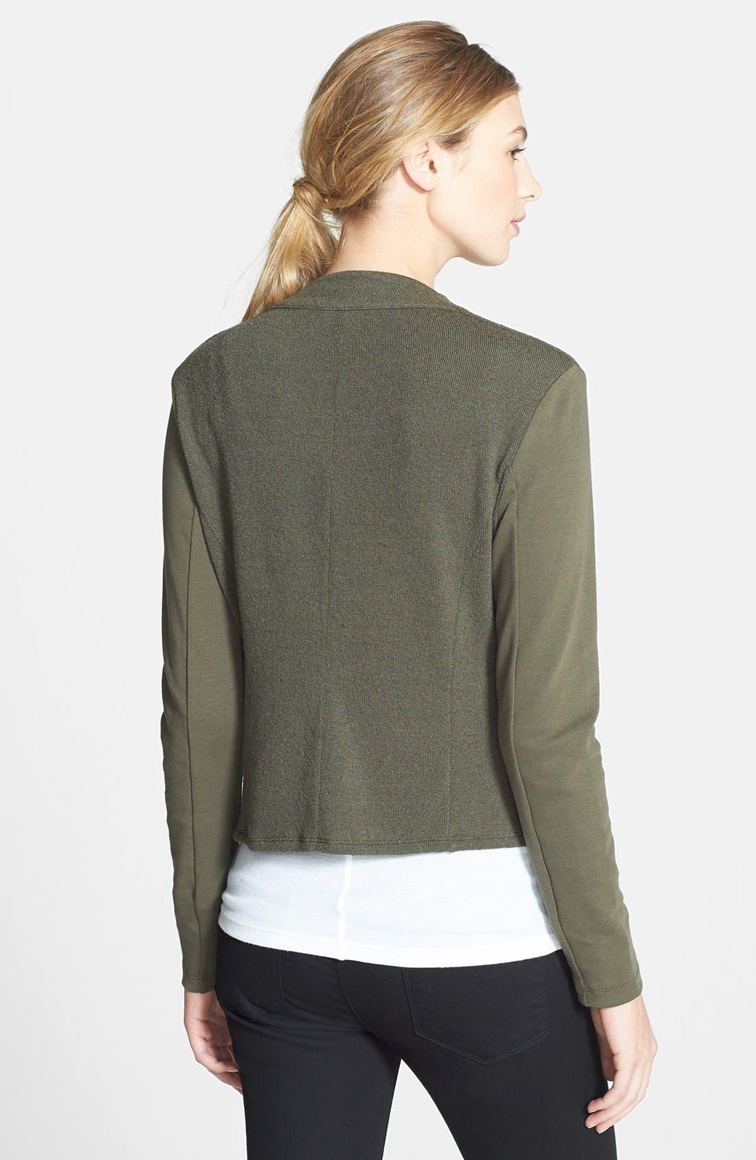 Alternate Image 2  - Halogen® Tweed & Solid Knit Jacket
