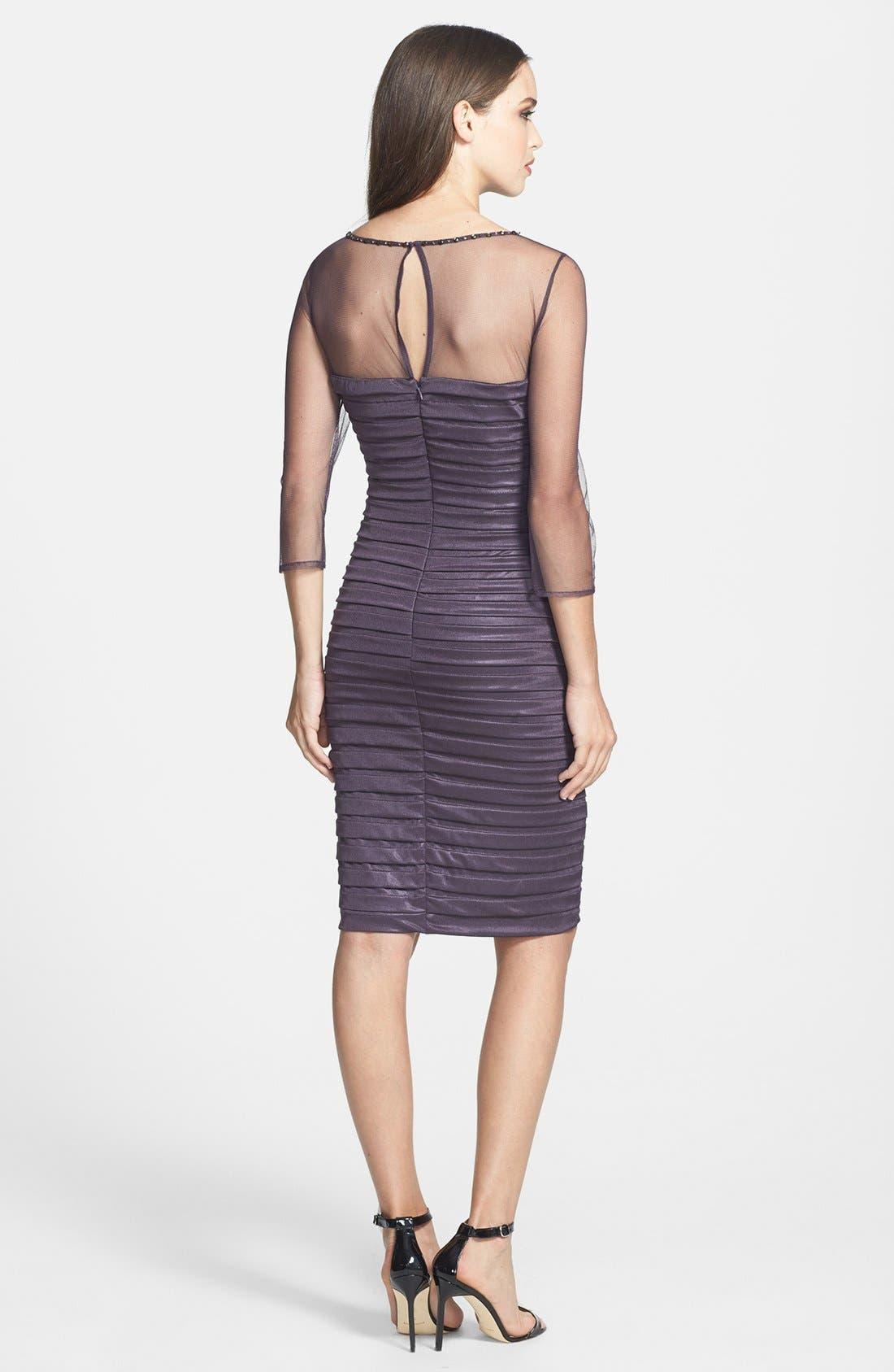 Alternate Image 2  - Adrianna Papell Embellished Illusion Yoke Banded Sheath Dress